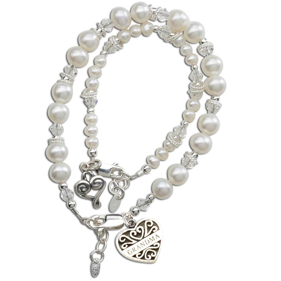 Cherished Moments Grandma And Me Freshwater Pearl Bracelet Set