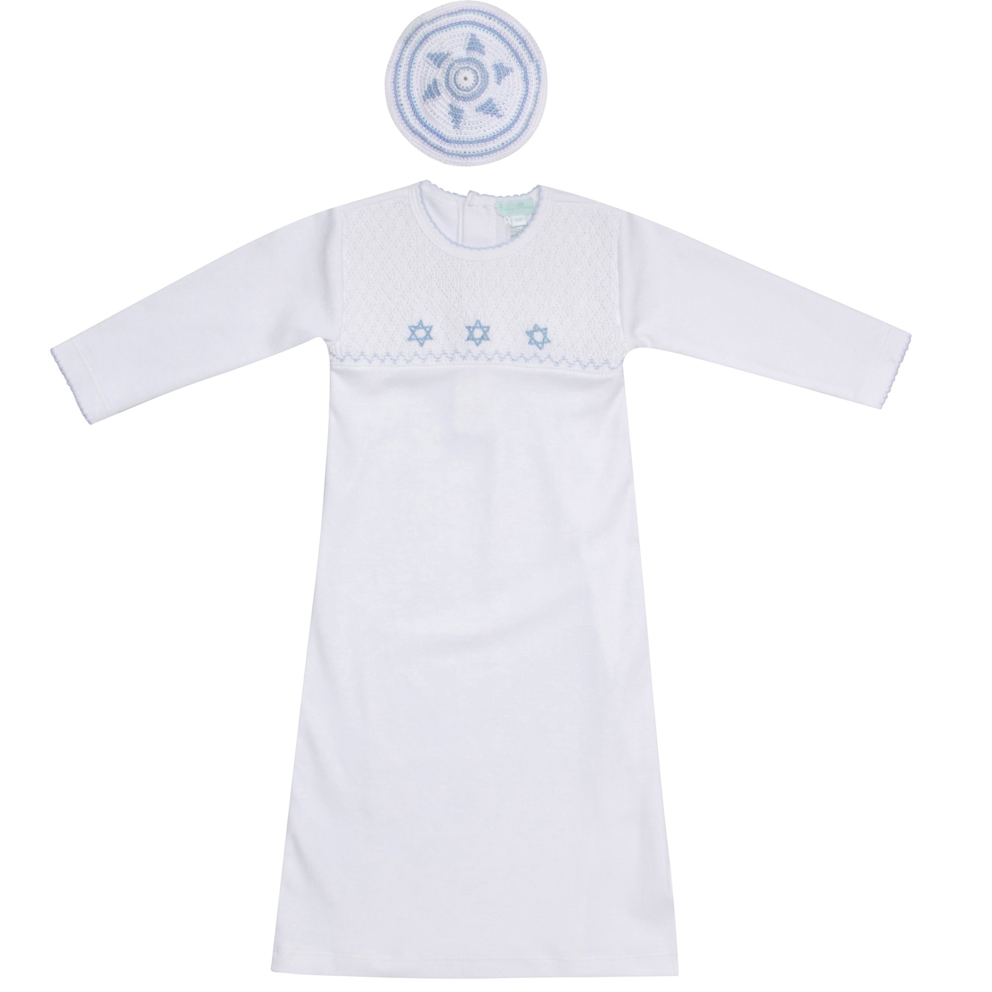 Baby Threads 2-piece Gown and Kippah Bris Set