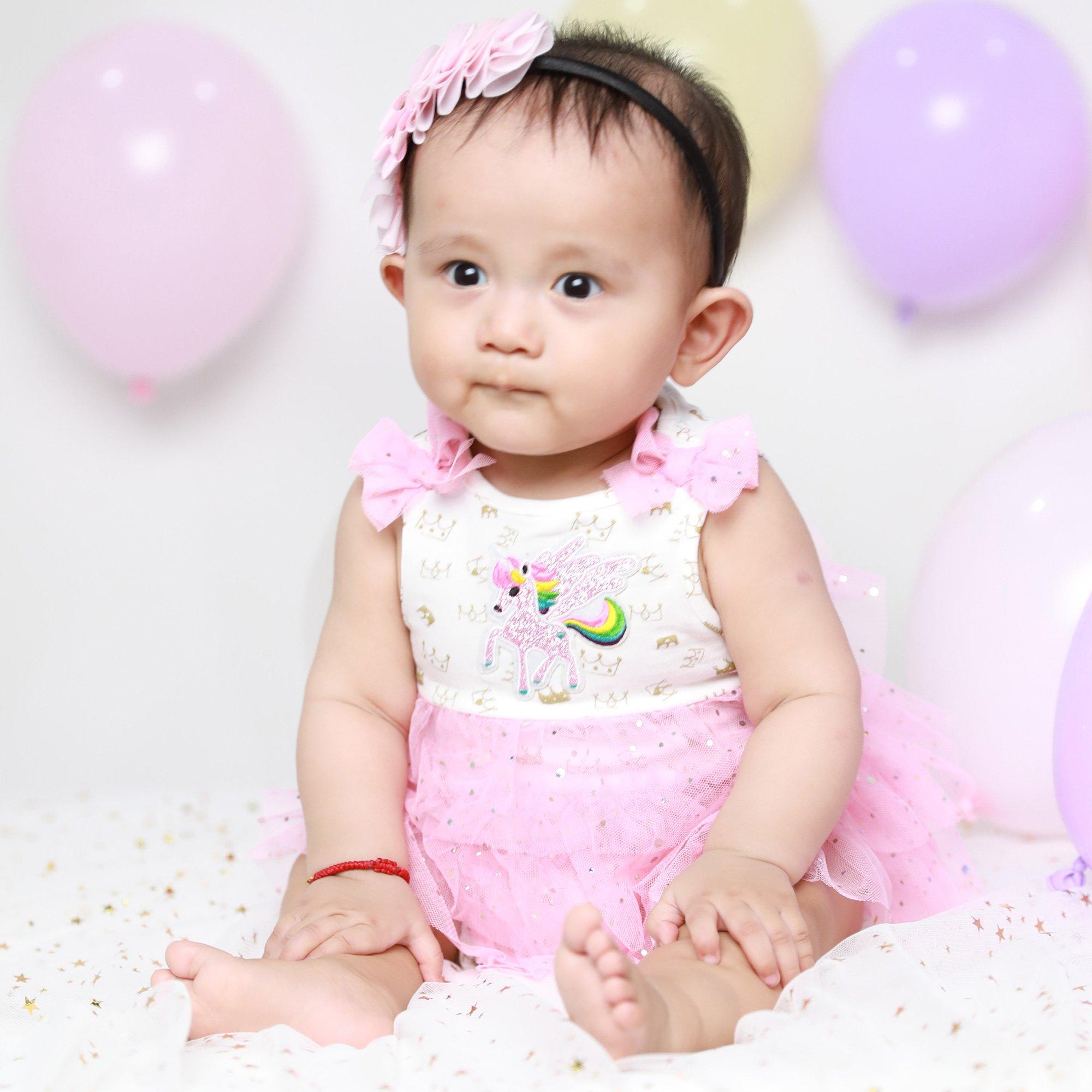 294a538768 For Beloved Children Unicorn Onesie with Pink Tutu Skirt