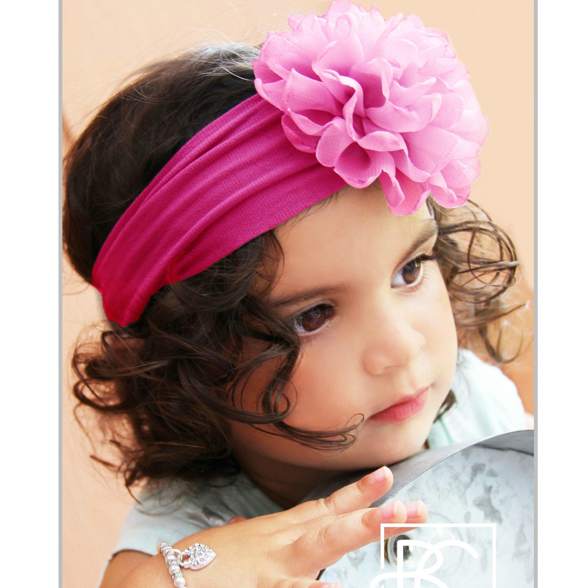 Beyond Creations Hot Pink Peony Bloom Flower Headband