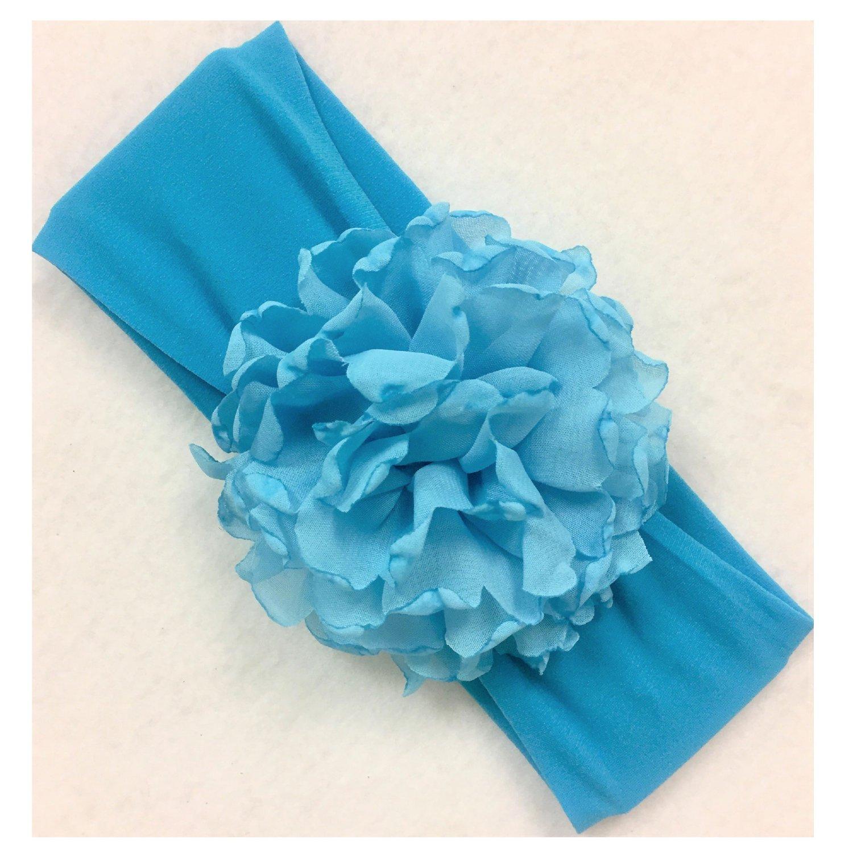 Beyond Creations Turquoise Peony Bloom Flower Headband