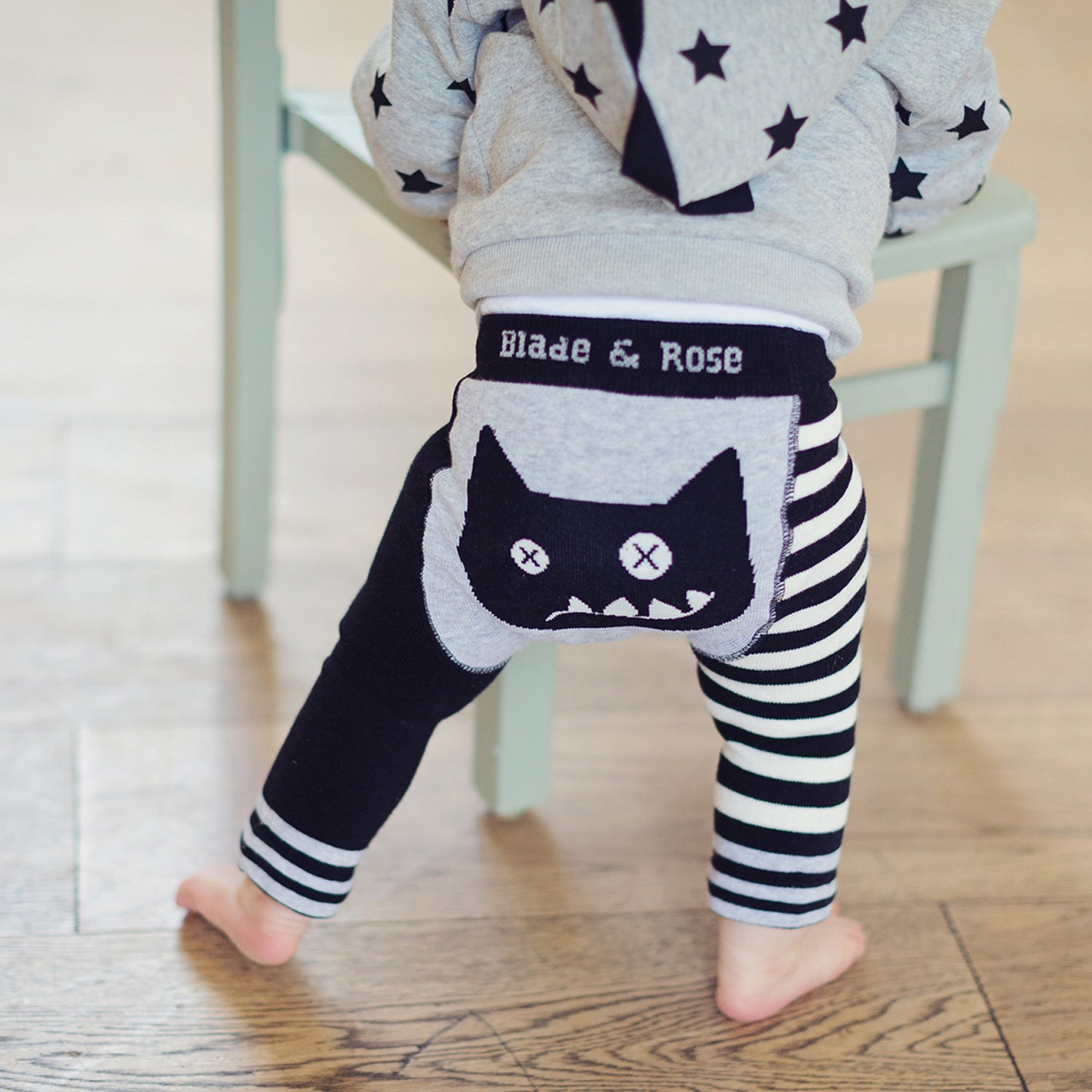 Blade & Rose Crazy Cat Leggings for Baby Boys
