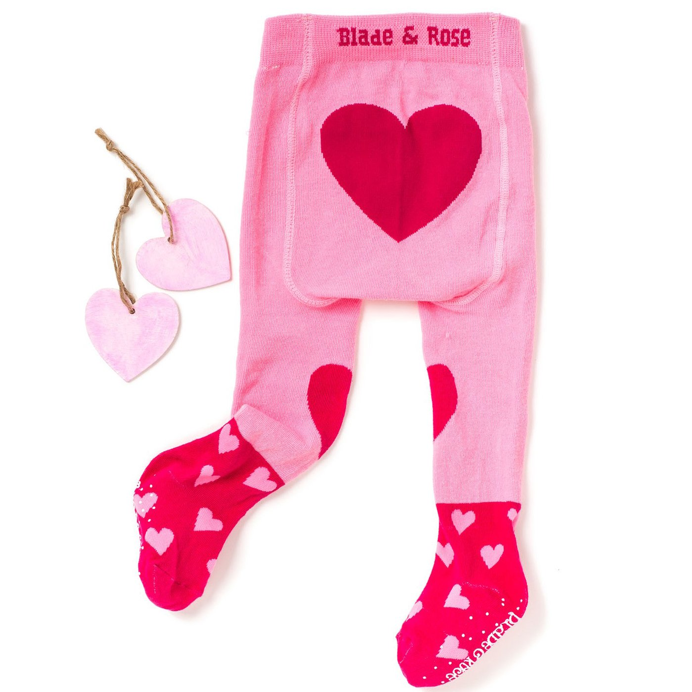96c3e069f743 Blade   Rose Heart Tights for Baby Girls