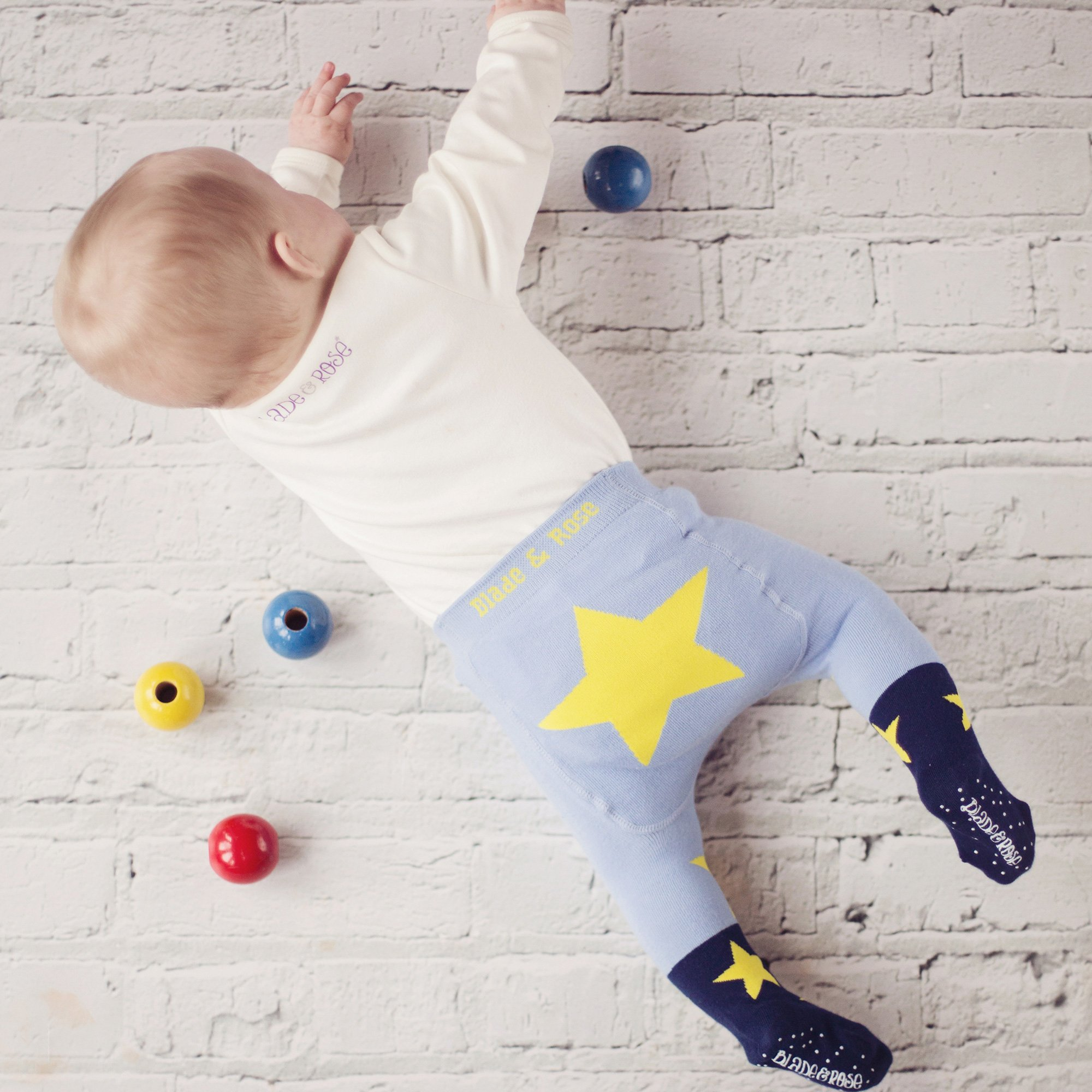 5500451dd Blade & Rose Blue Star Tights for Baby Boys