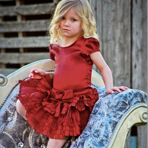 Holiday Red Toddler Dresses by Dolls & Divas-Niki