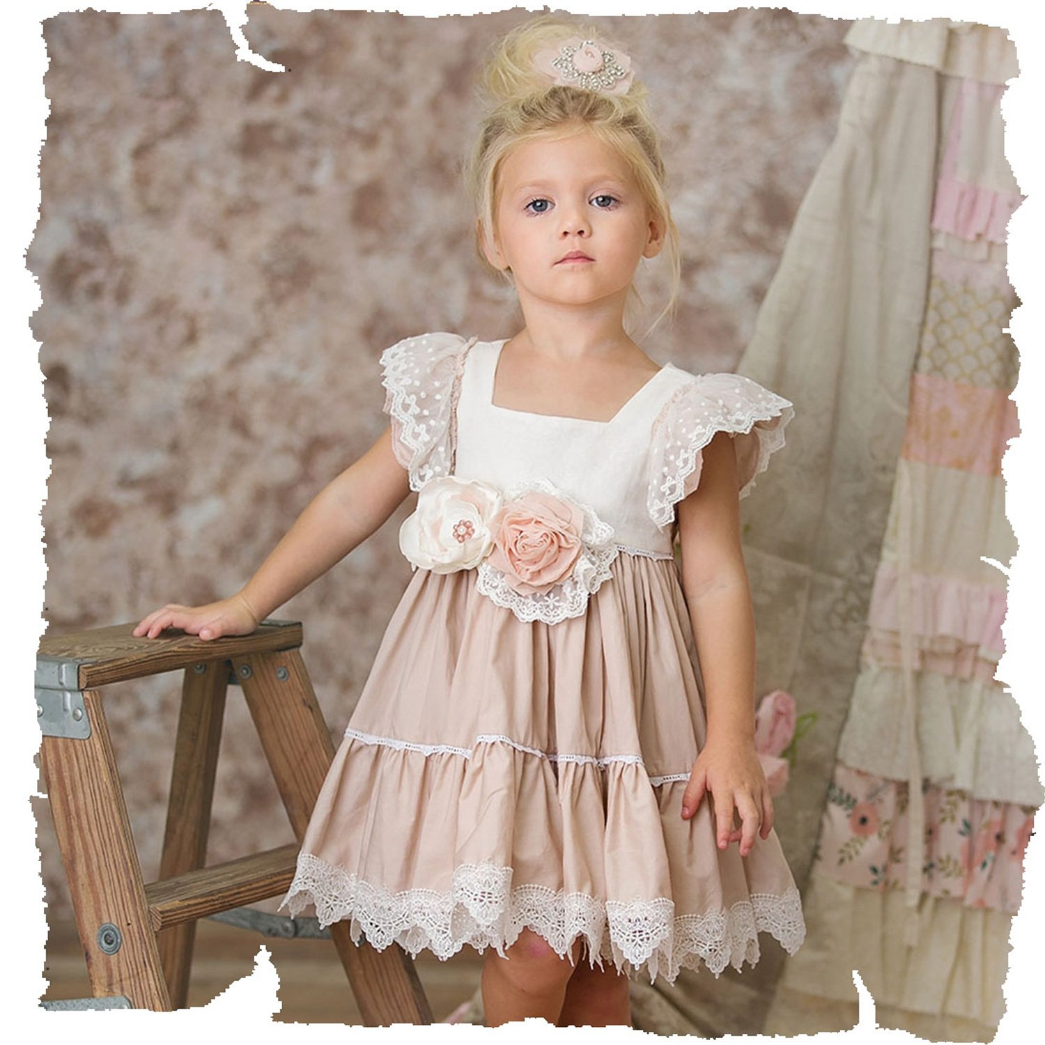 9c5ca3705090 Frilly Frocks Princess Charlotte Pinafore Dress for Toddlers