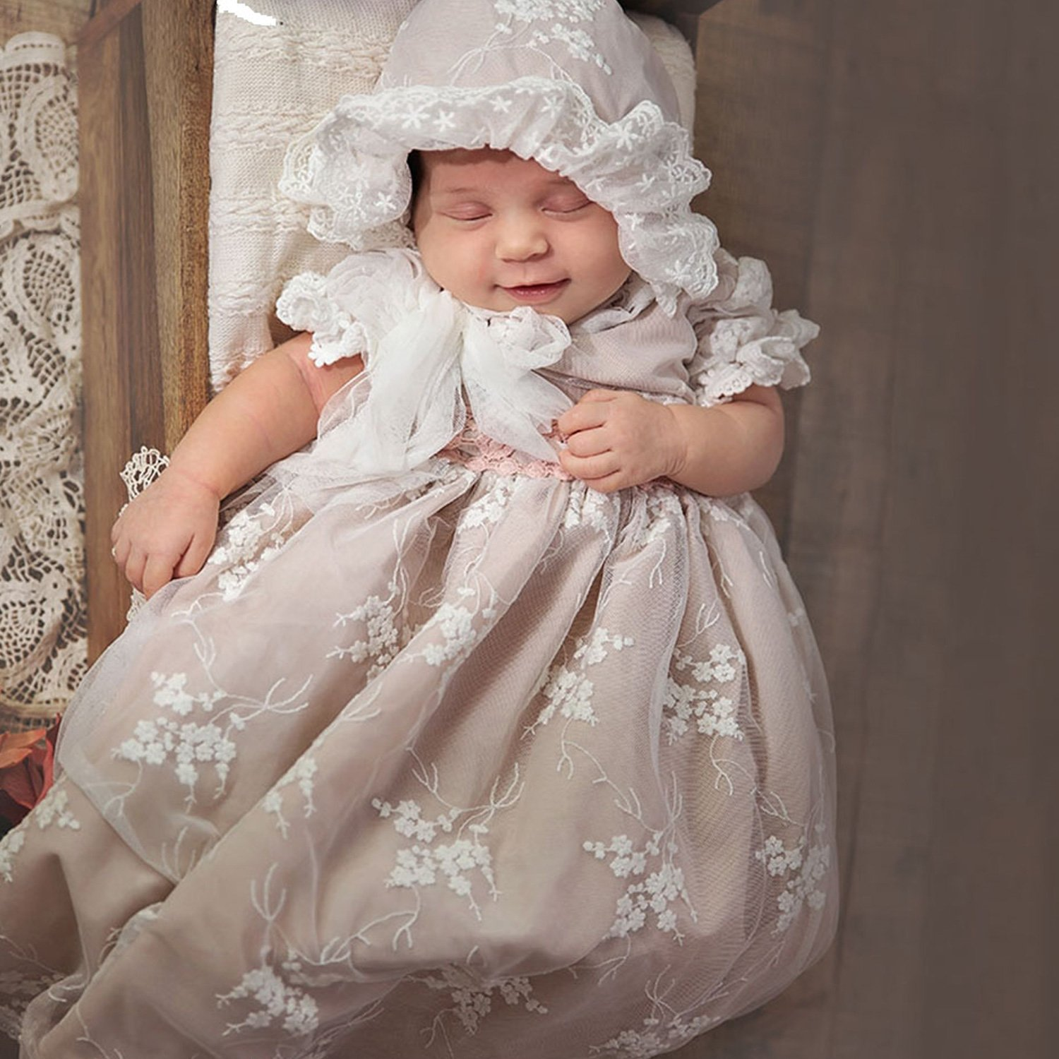 Frilly Frocks Princess Charlotte Newborn Gown