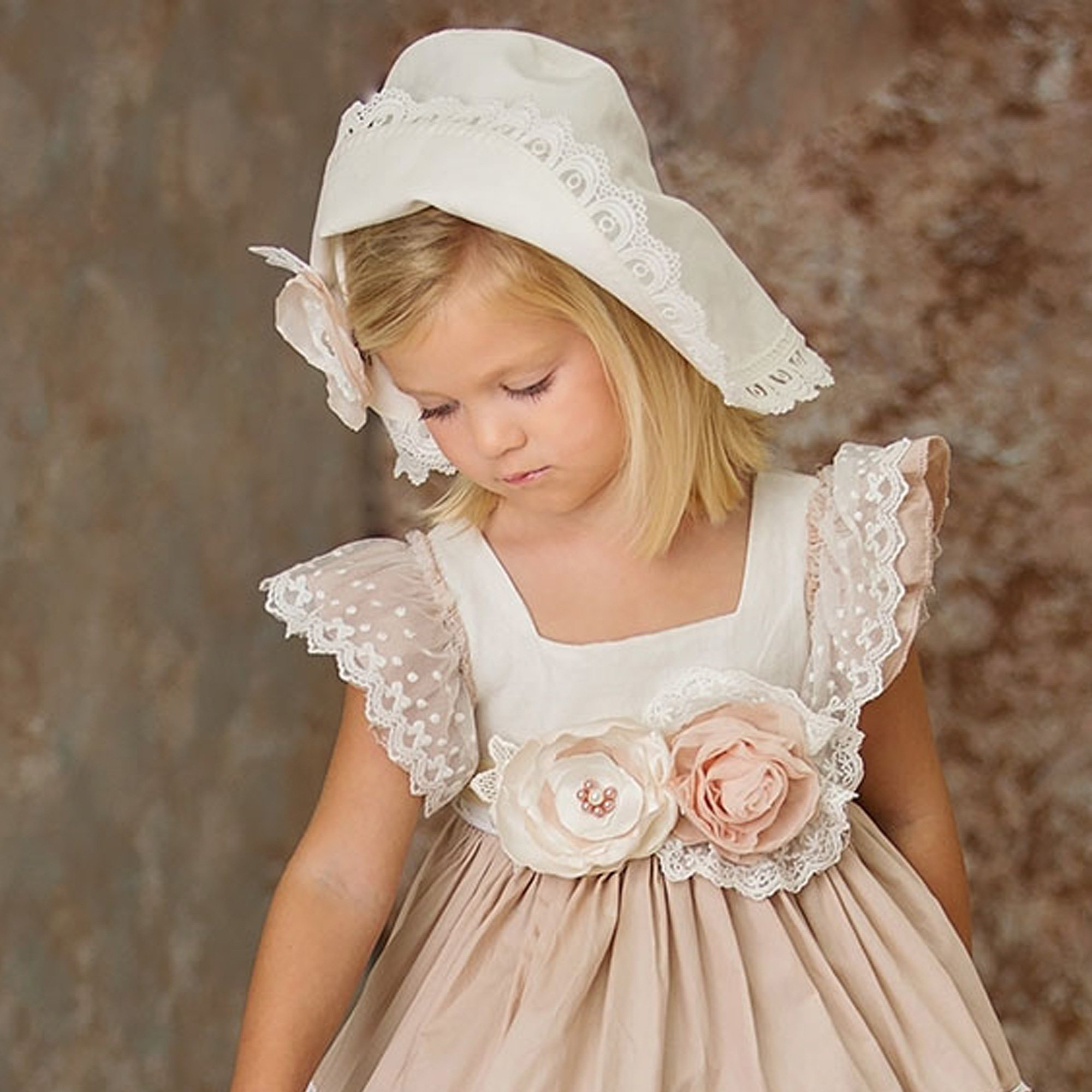 9919f519 Frilly Frocks Brim Hat in Ivory for Baby and Toddlers