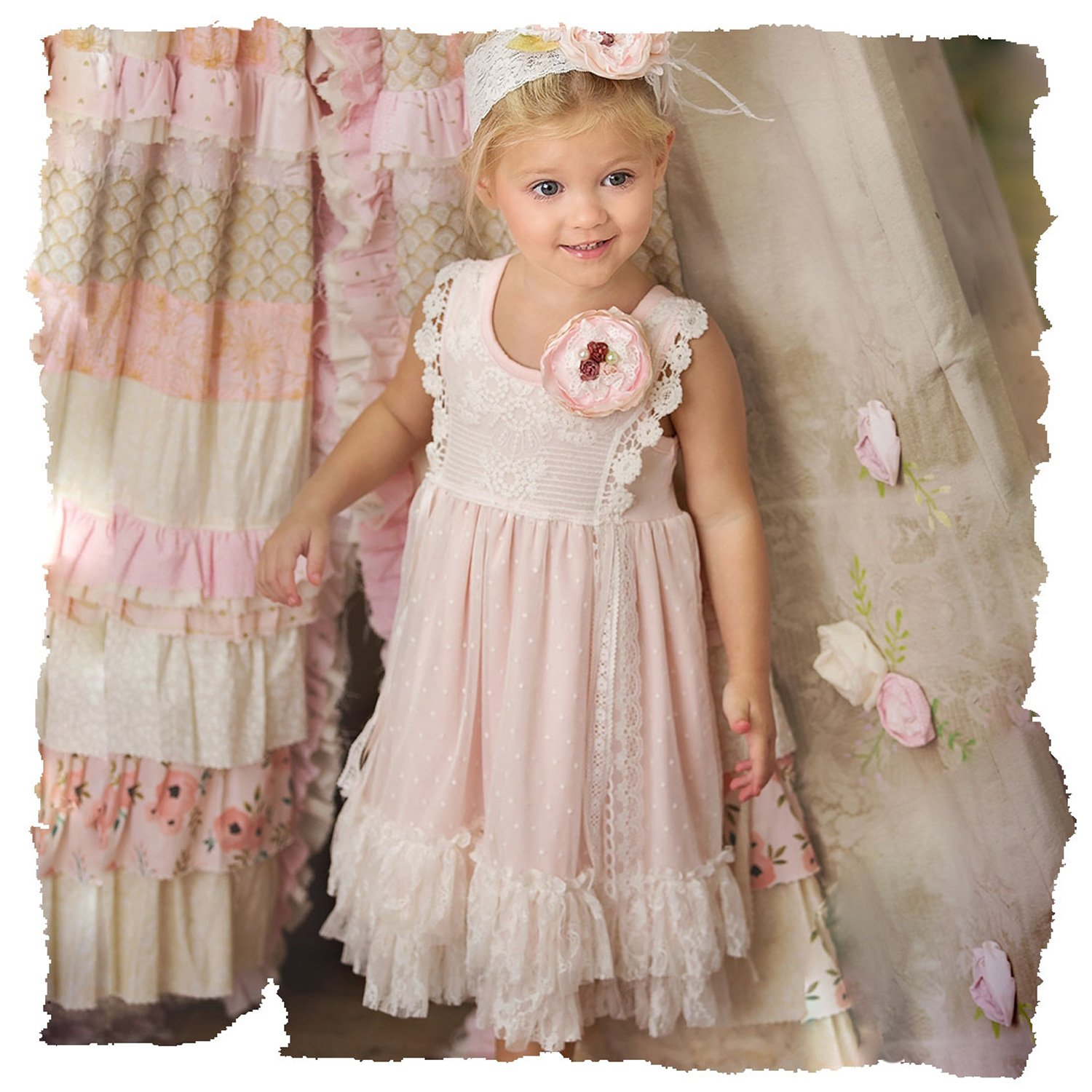 378c49cb9 Frilly Frocks Vivian Rose Dress for Toddlers