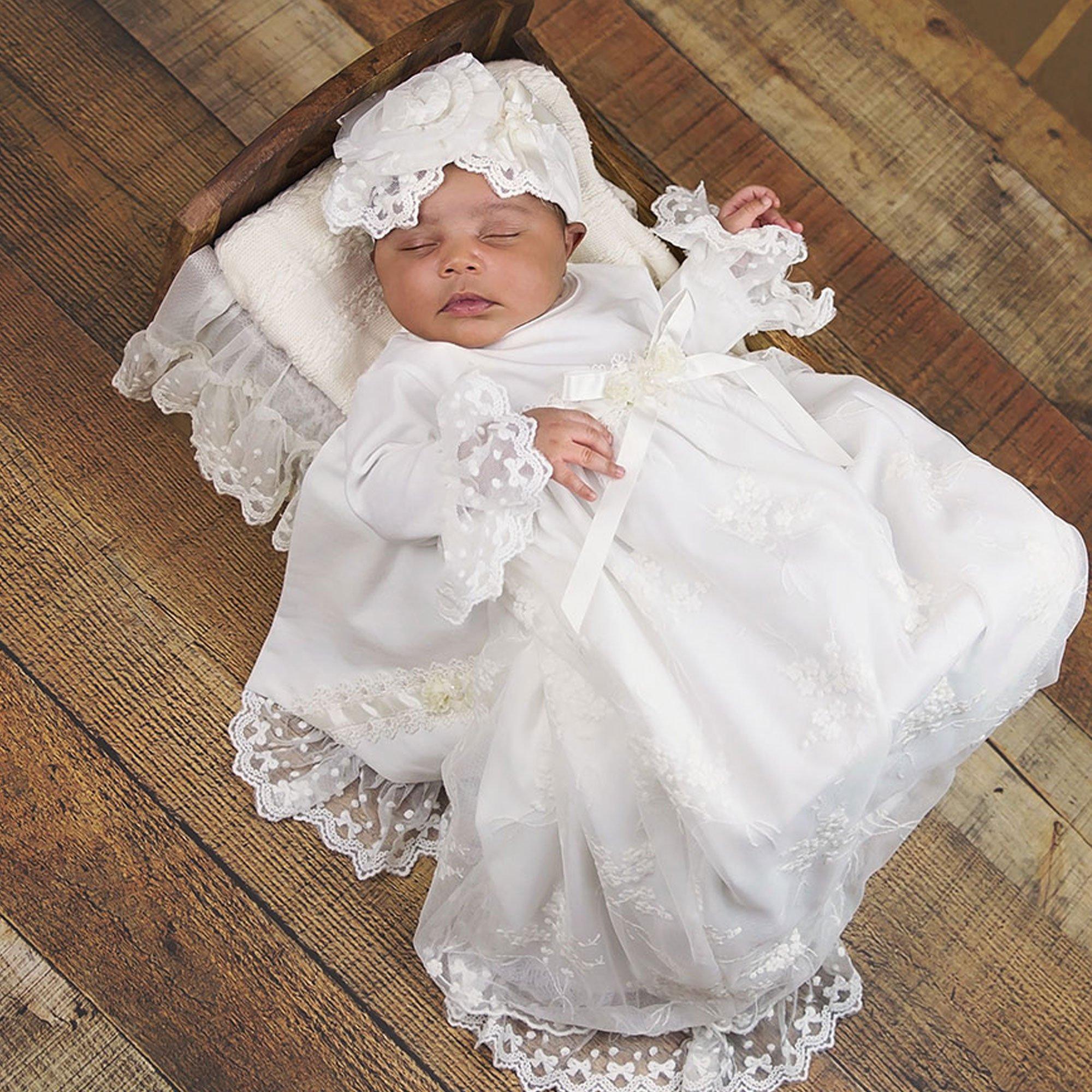 Haute Baby Baby\'s Breath Newborn Gown