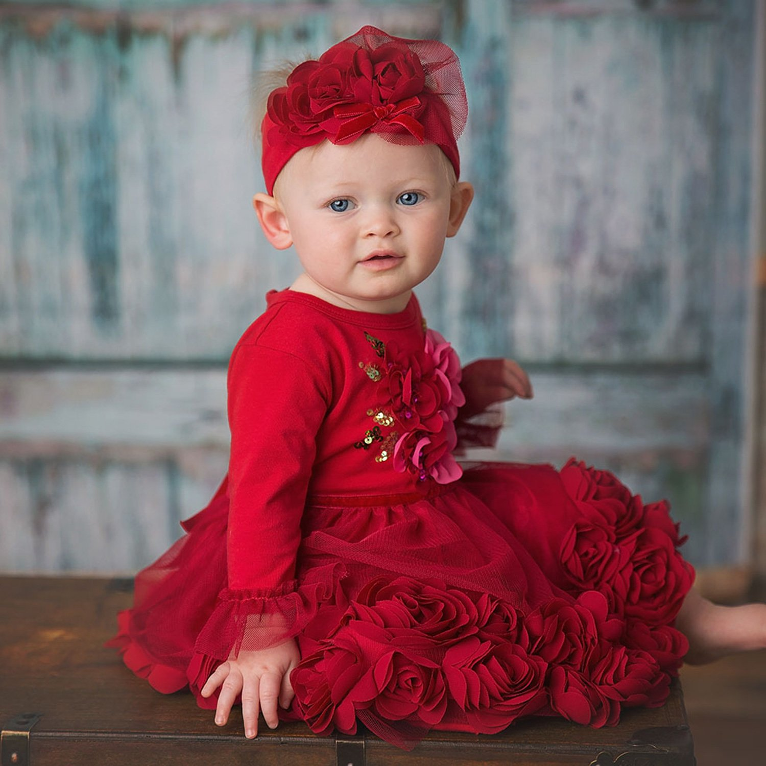 84627f87 Haute Baby Ruby Sparkle 2pc Dress and Pant Set for Baby Girls
