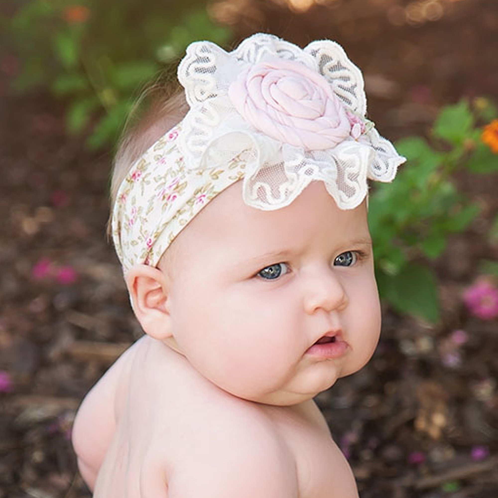 Haute Baby Sweet Pea Headband for Baby Girls