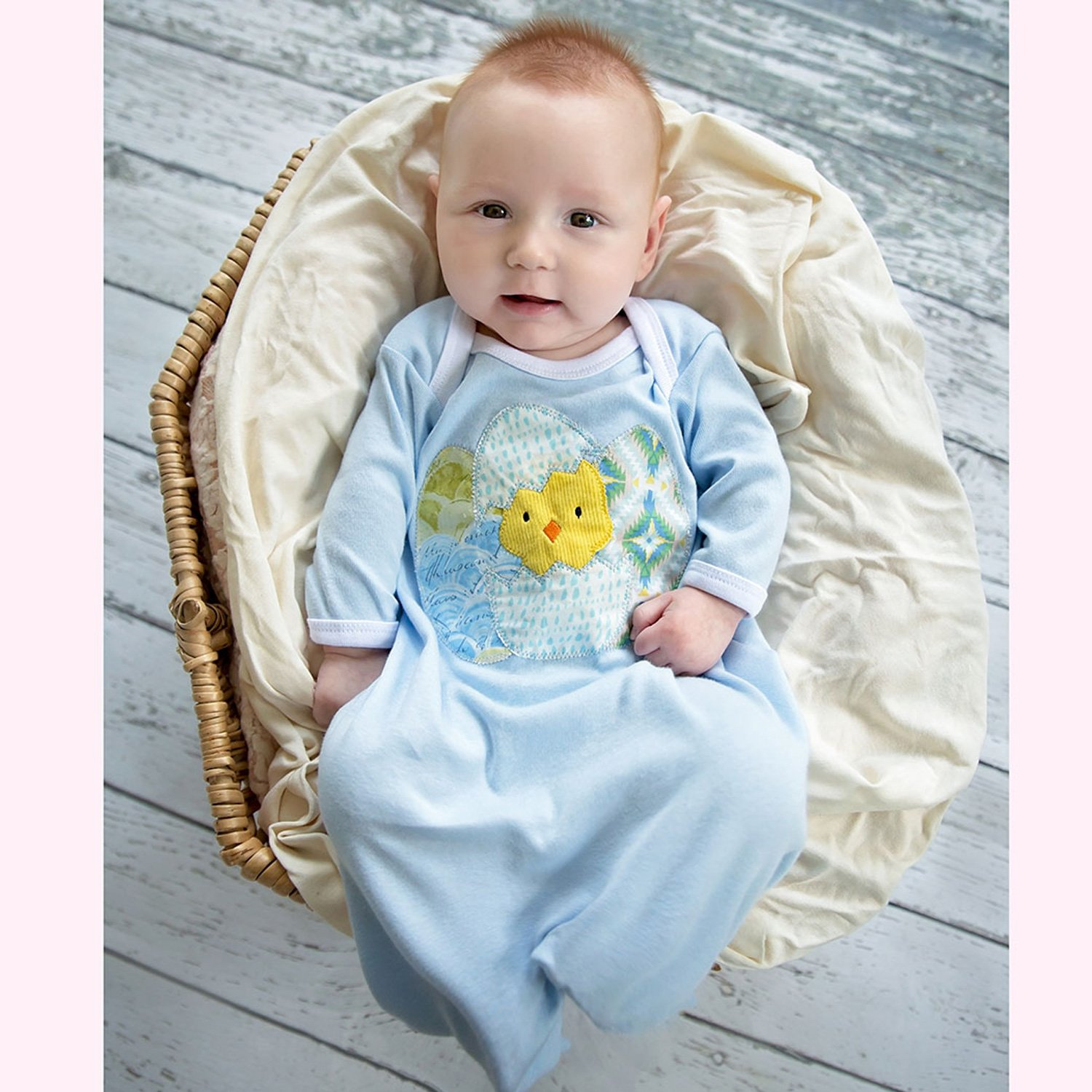 Haute Baby Chickie Baby Newborn Gown for Boys