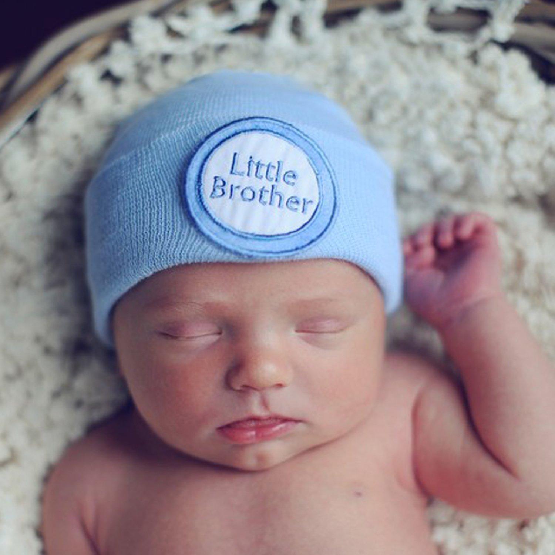Ilybean Blue Crocheted Heart Nursery Hat