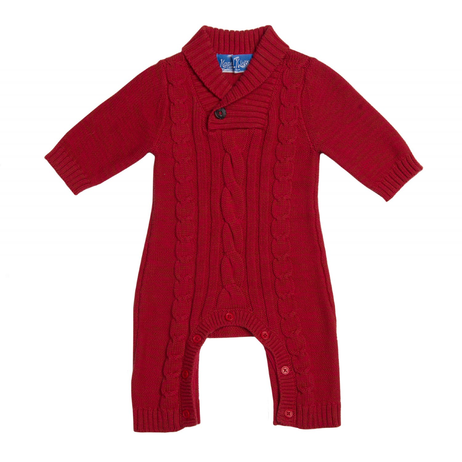 Completely new Kapital K Shawl Collar Sweater Coverall in Holiday Red XO29