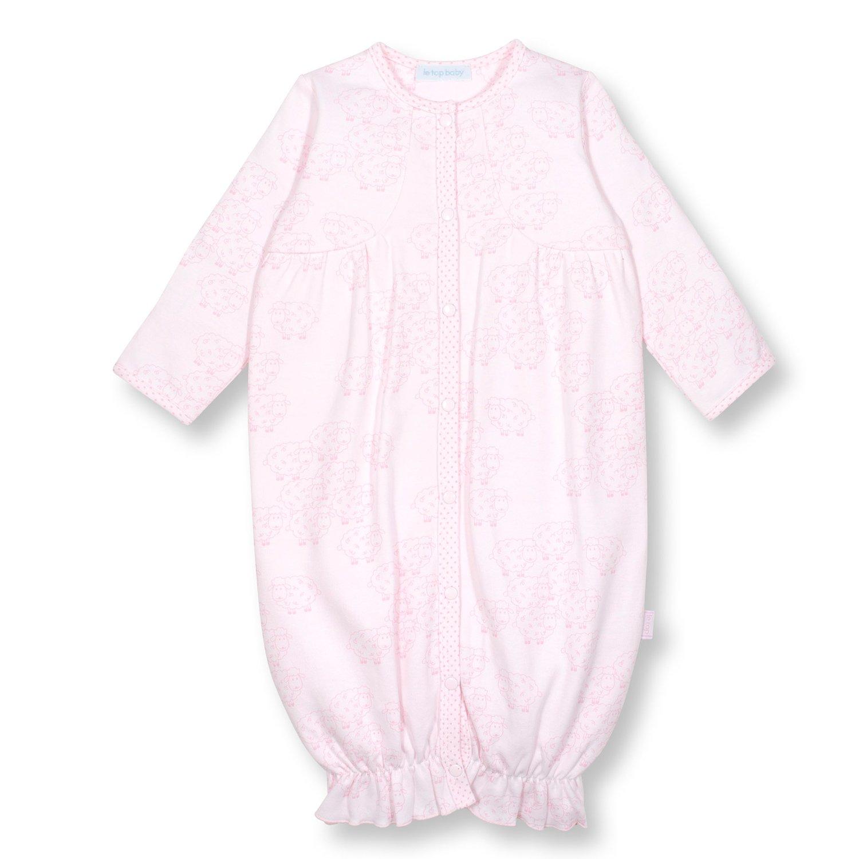 Le Top Bébé Little Lamb Newborn Gown for Baby Girls