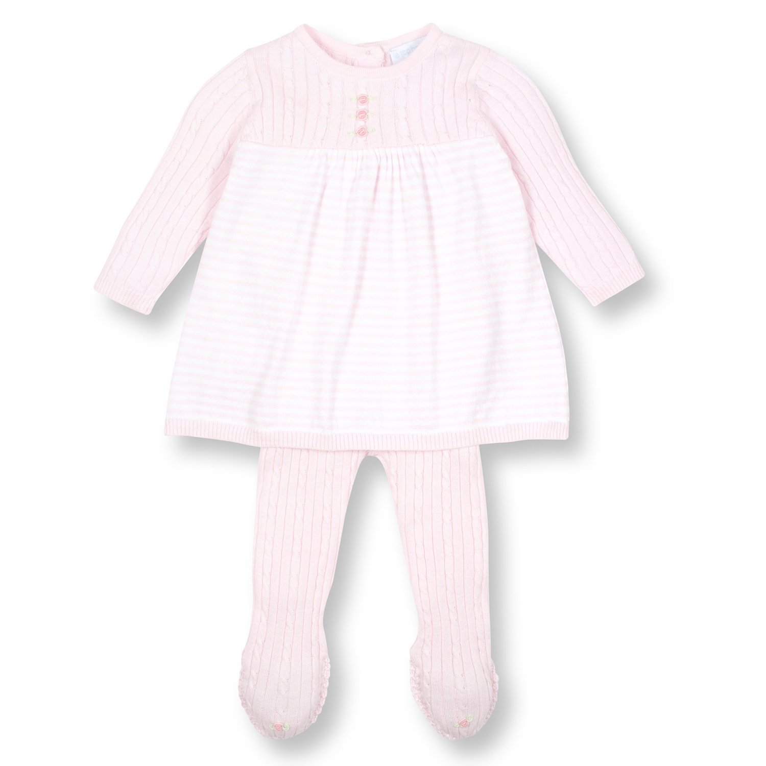 Le Top Bébé Knit Dress and Legging Set for Newborn and Baby Girls