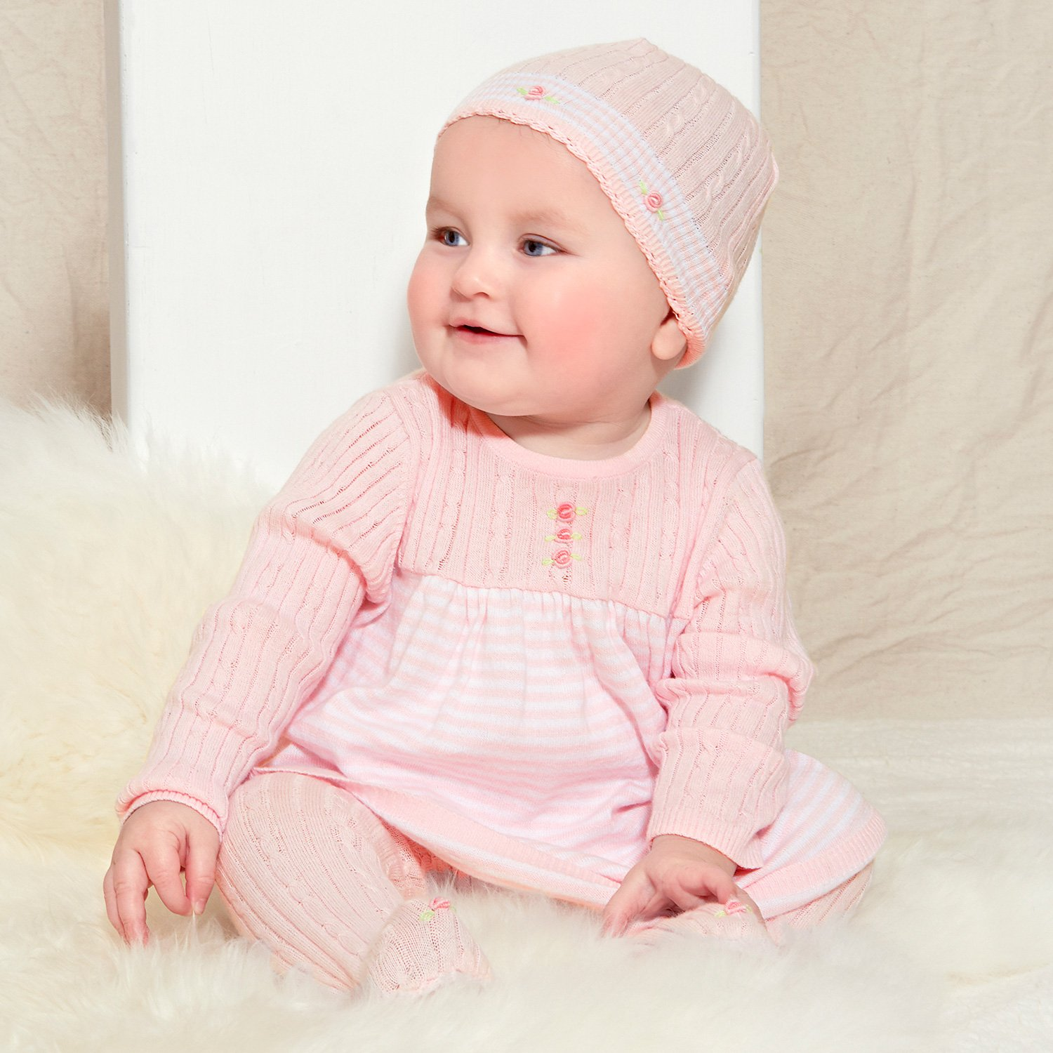 5efc26f9fdeec Le Top Bébé Knit Dress and Legging Set for Newborn and Baby Girls