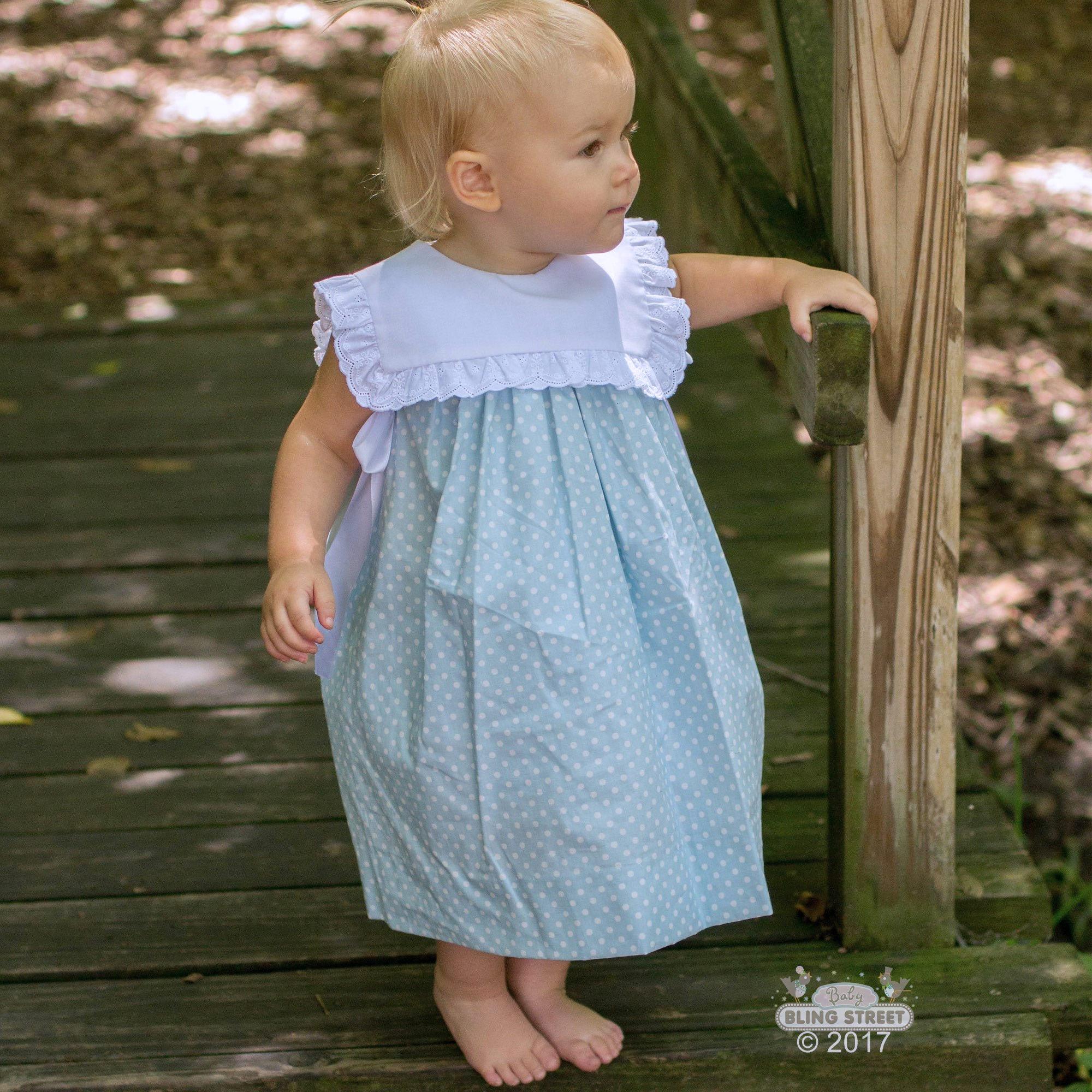 3d8efff554288 Lé Za Me - Easter Dresses- Blue Bib Dress