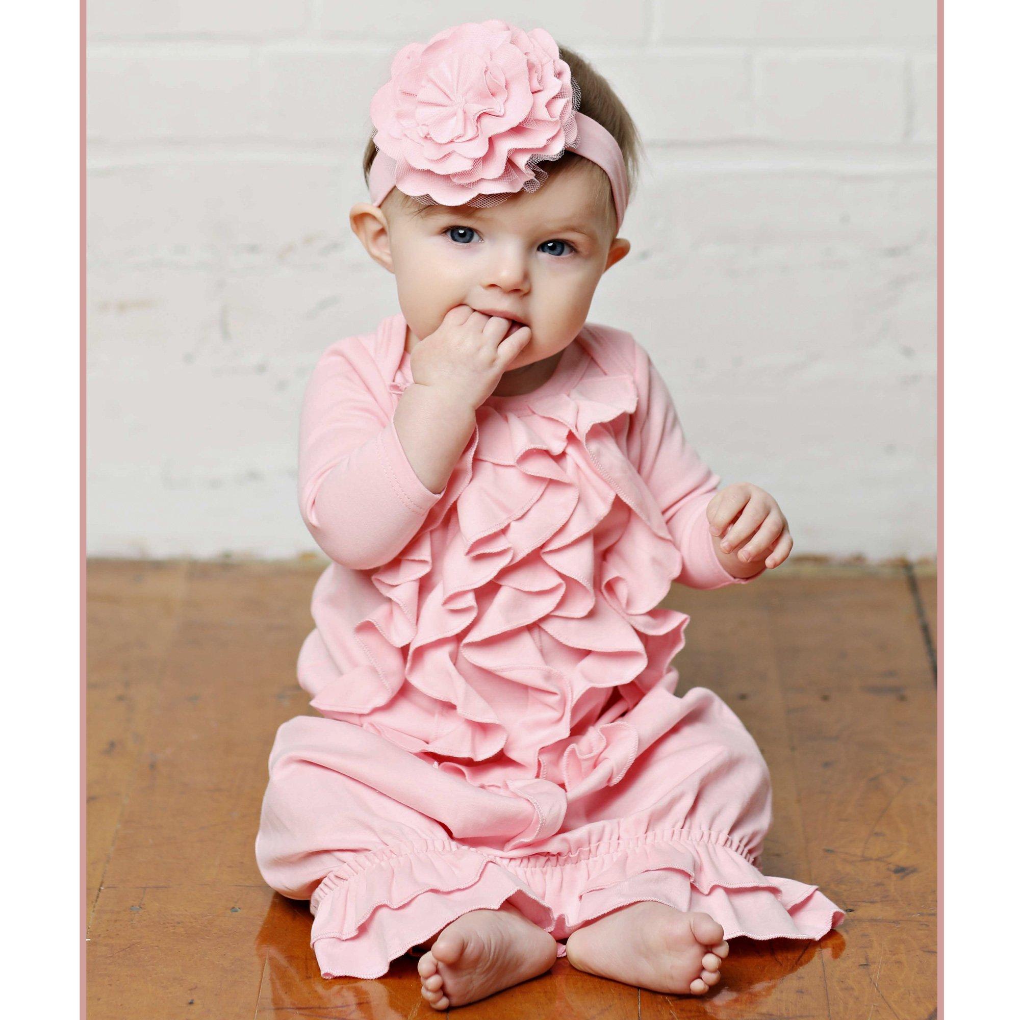 Lemon Loves Layette Angel Newborn Gown in Pink