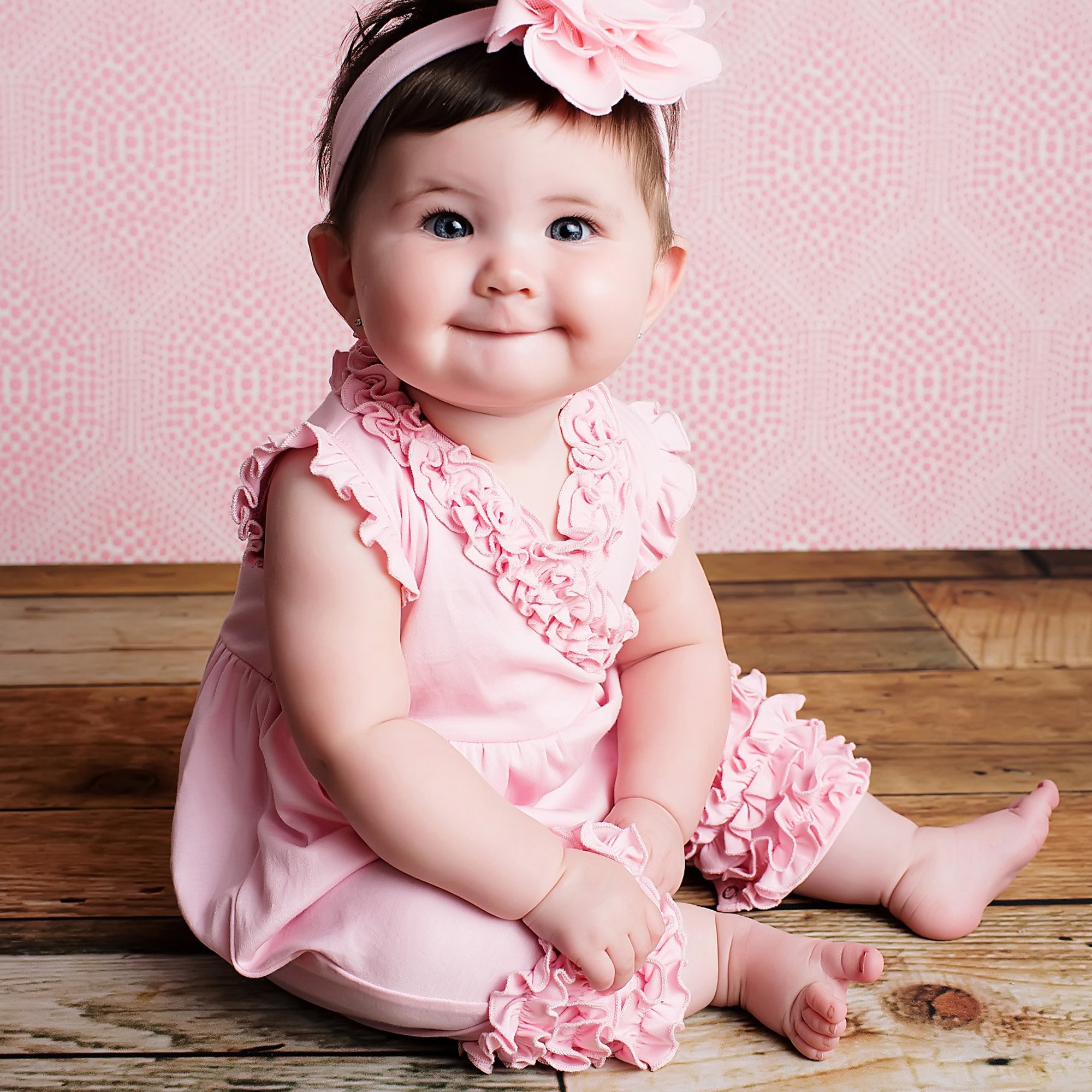 aa22981fc31 Pink Baby Girl Romper - Ava by Lemon Loves Layette