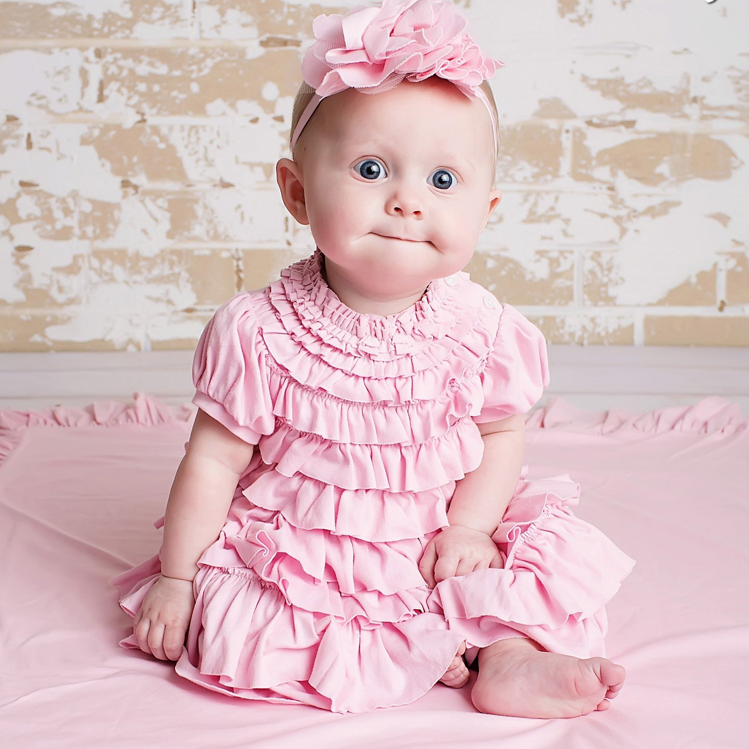 Jane Pink Ruffled Baby Dress Lemon Loves Layette