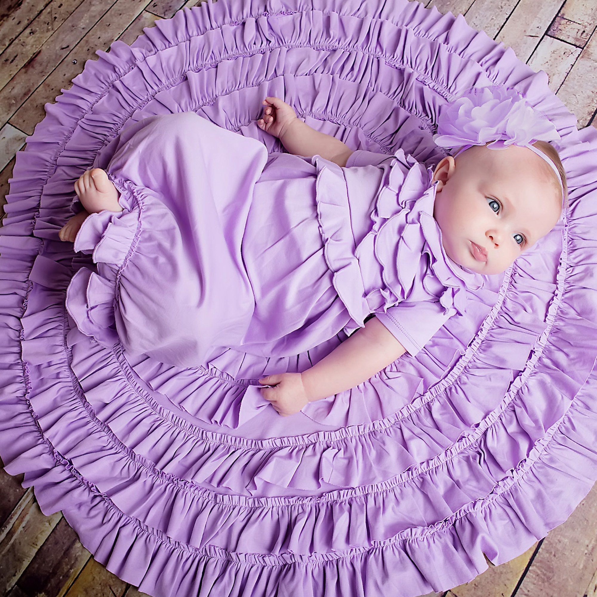 Take Me Home - Lemon Loves Layette Lilac Baby Gown
