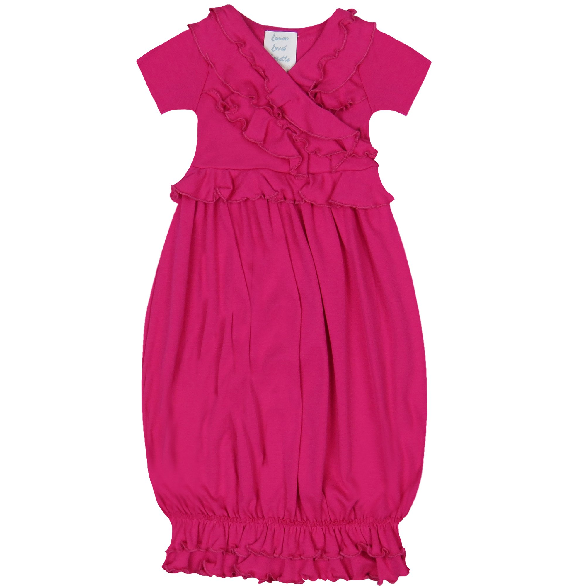 Take Me Home - Lemon Loves Layette Hot Pink Baby Gown