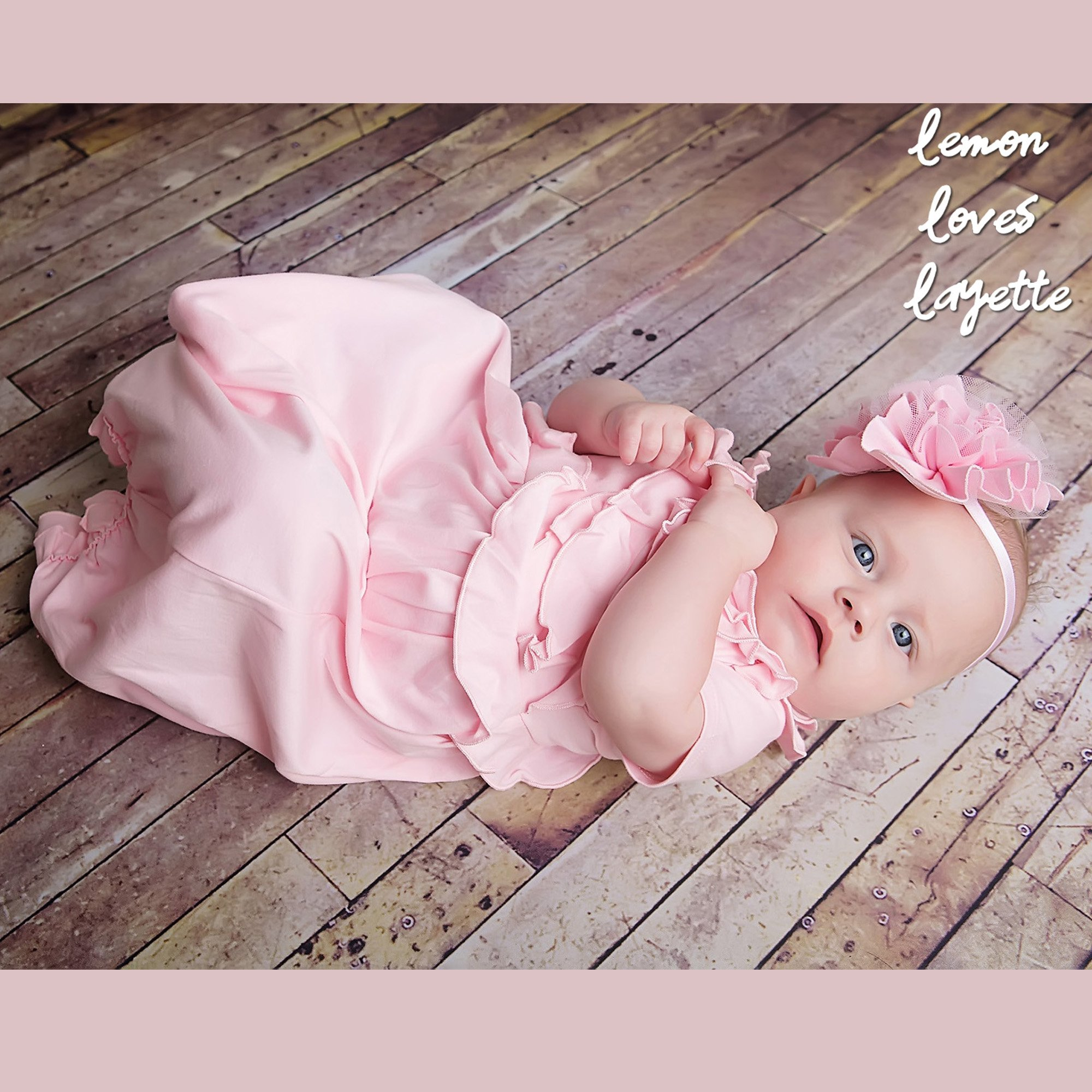 Take Me Home - Lemon Loves Layette Pink Baby Gown