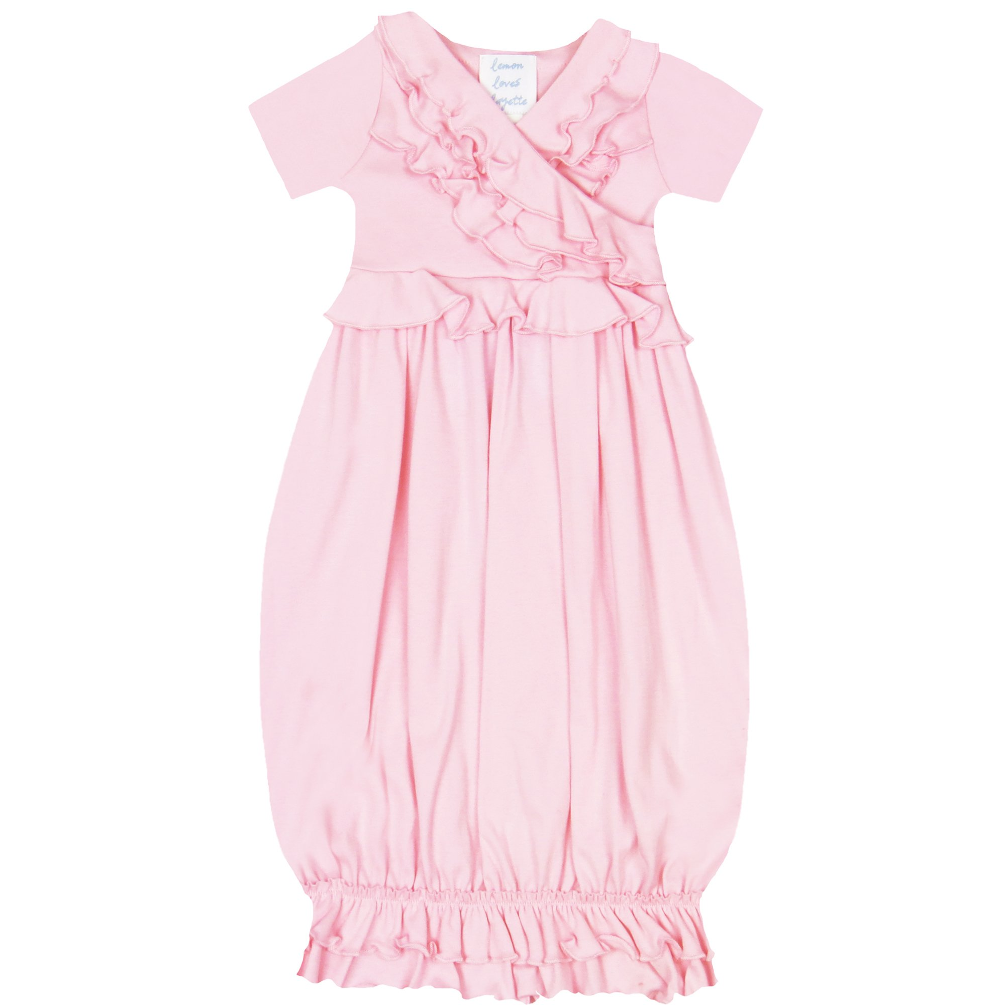 Take Me Home Lemon Loves Layette Pink Baby Gown