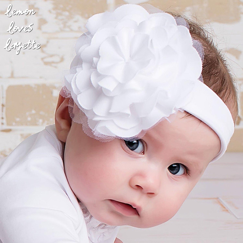 Lemon Loves Layette Lilypad White Baby Headband 5a1095b8155