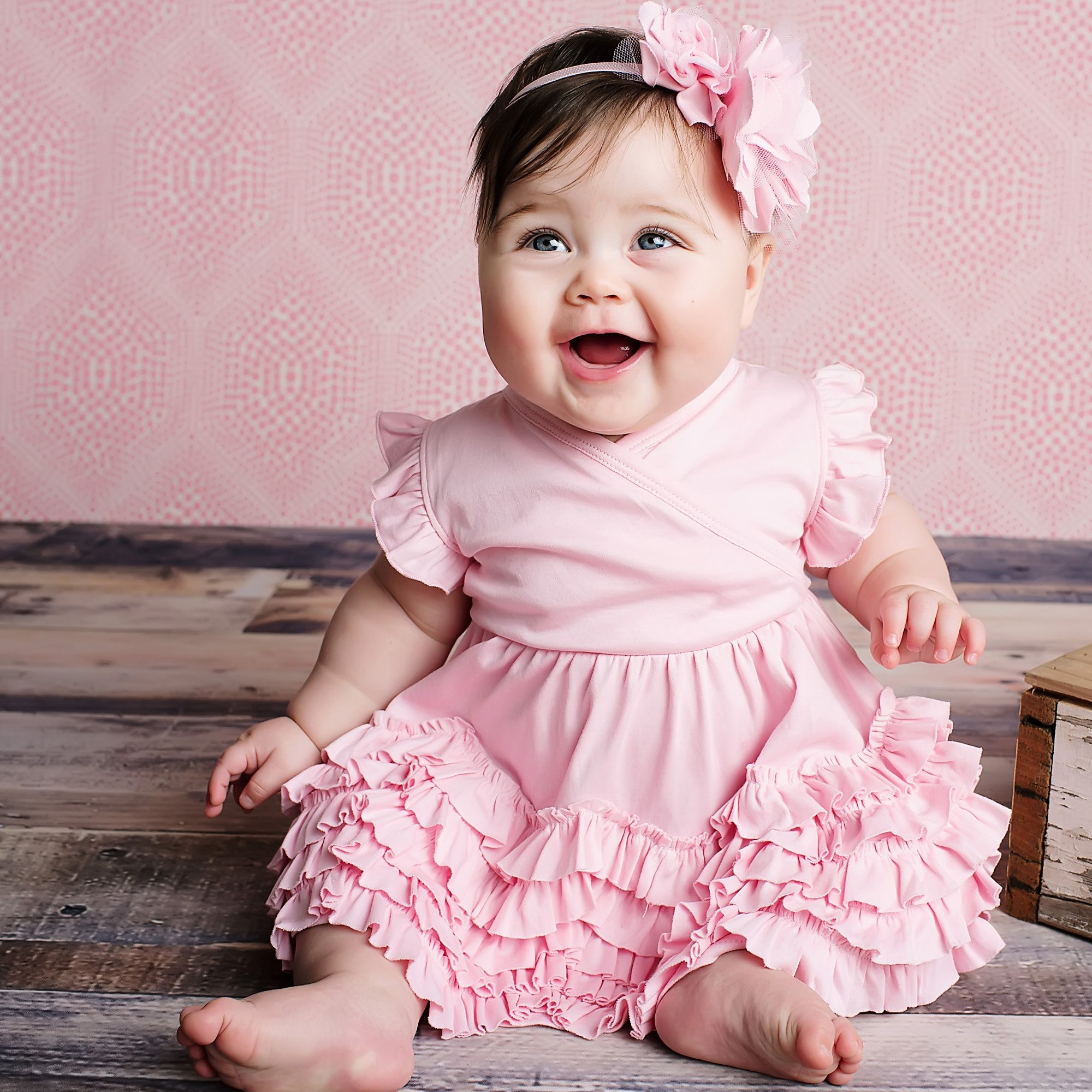 Lemon Loves Layette Pink Baby Dress - Mia in Pink