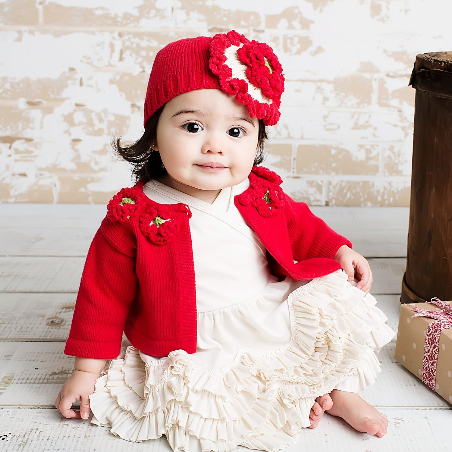 Babys First Christmas Outfit | Newborn Christmas Photo Ideas | Baby Bling Street Baby Fashion Boutique