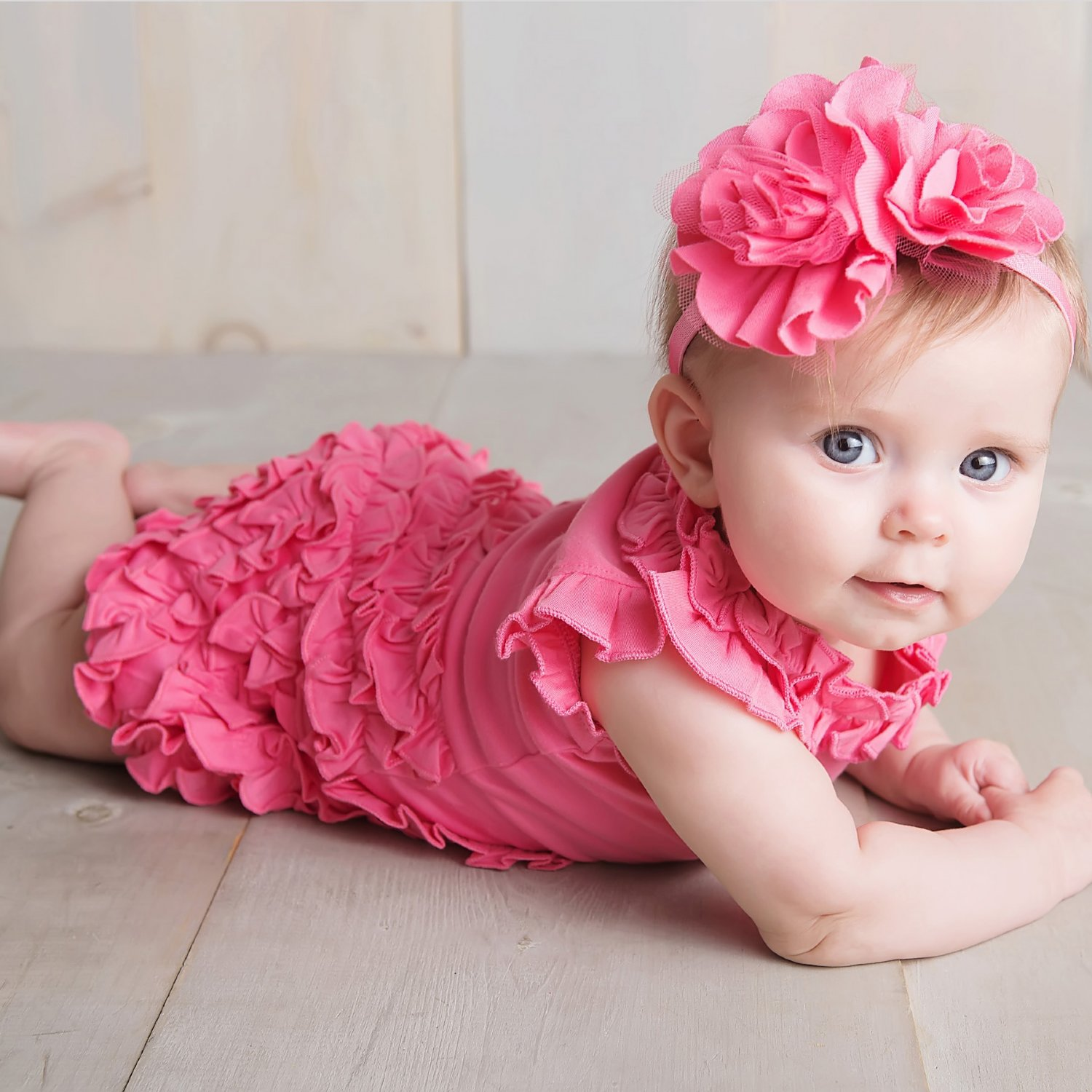 Lemon Loves Layette Rula Romper for Baby Girls in Pink ...