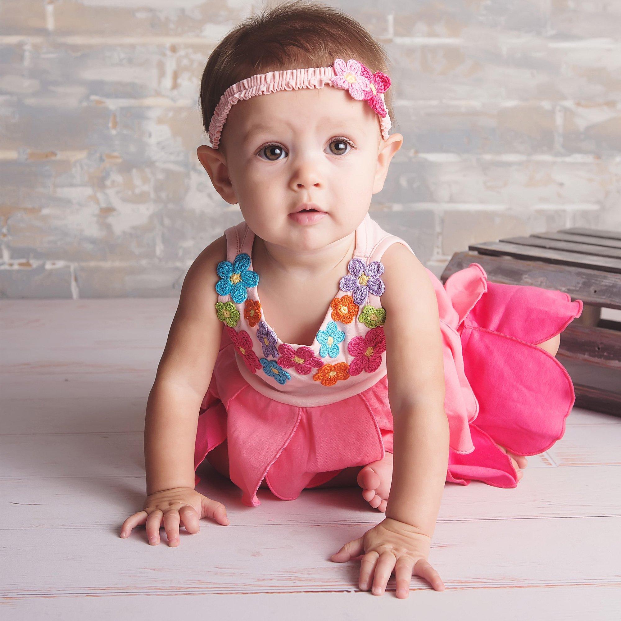 Lemon Loves Layette Bubble Seahorse Romper for Baby Girls