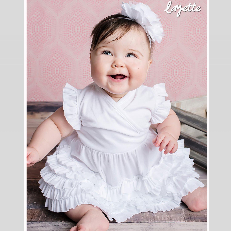 058e79242 Lemon Loves Layette Mia Dress in White
