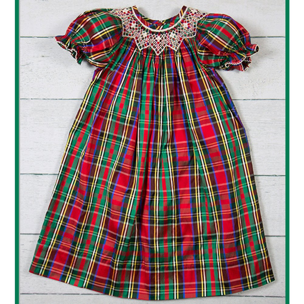 Beautiful Christmas Dresses for Toddlers in Plaid | Baby Bling Street Baby Fashion Boutique