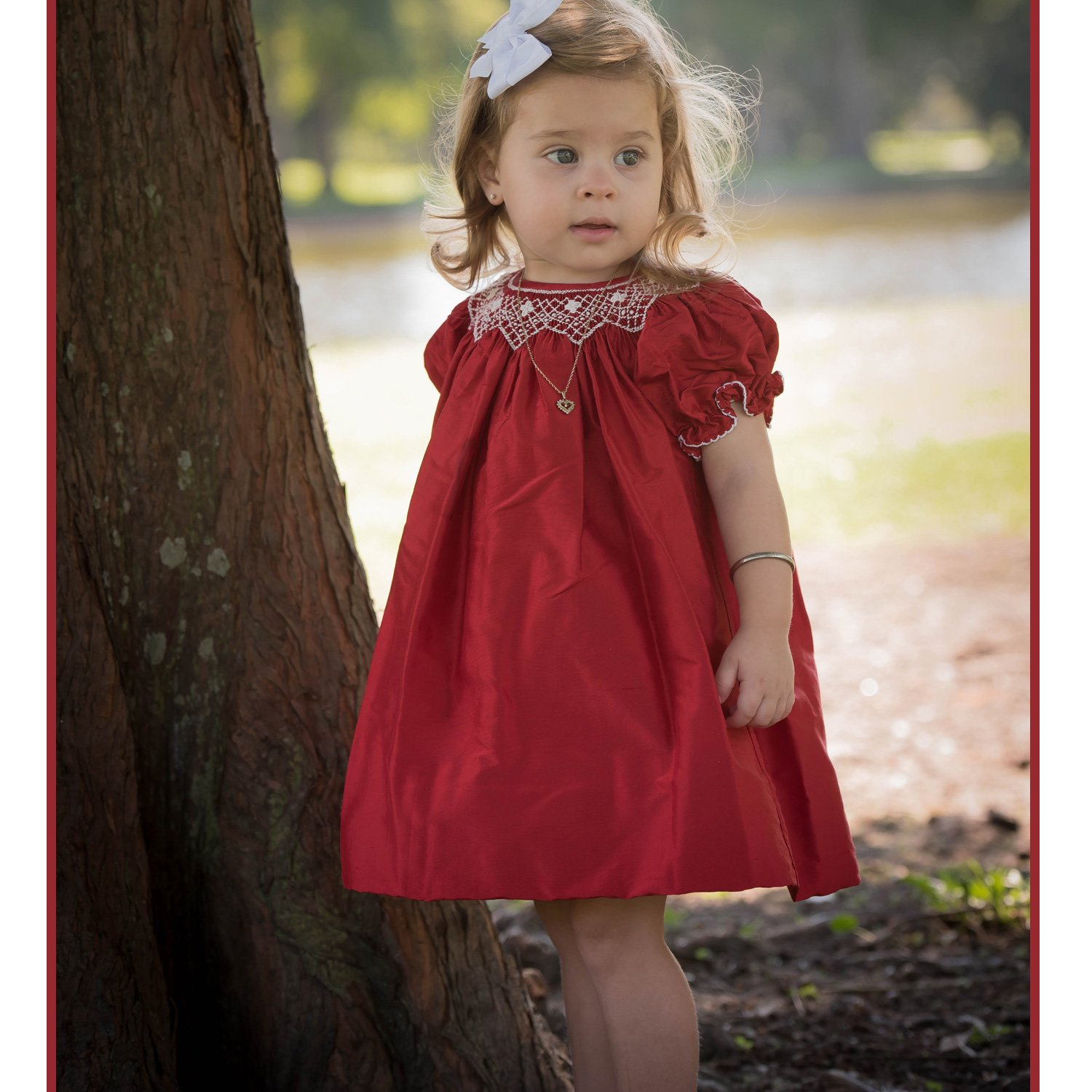 Beautiful Christmas Dresses for Toddlers in Red | Baby Bling Street Baby Fashion Boutique