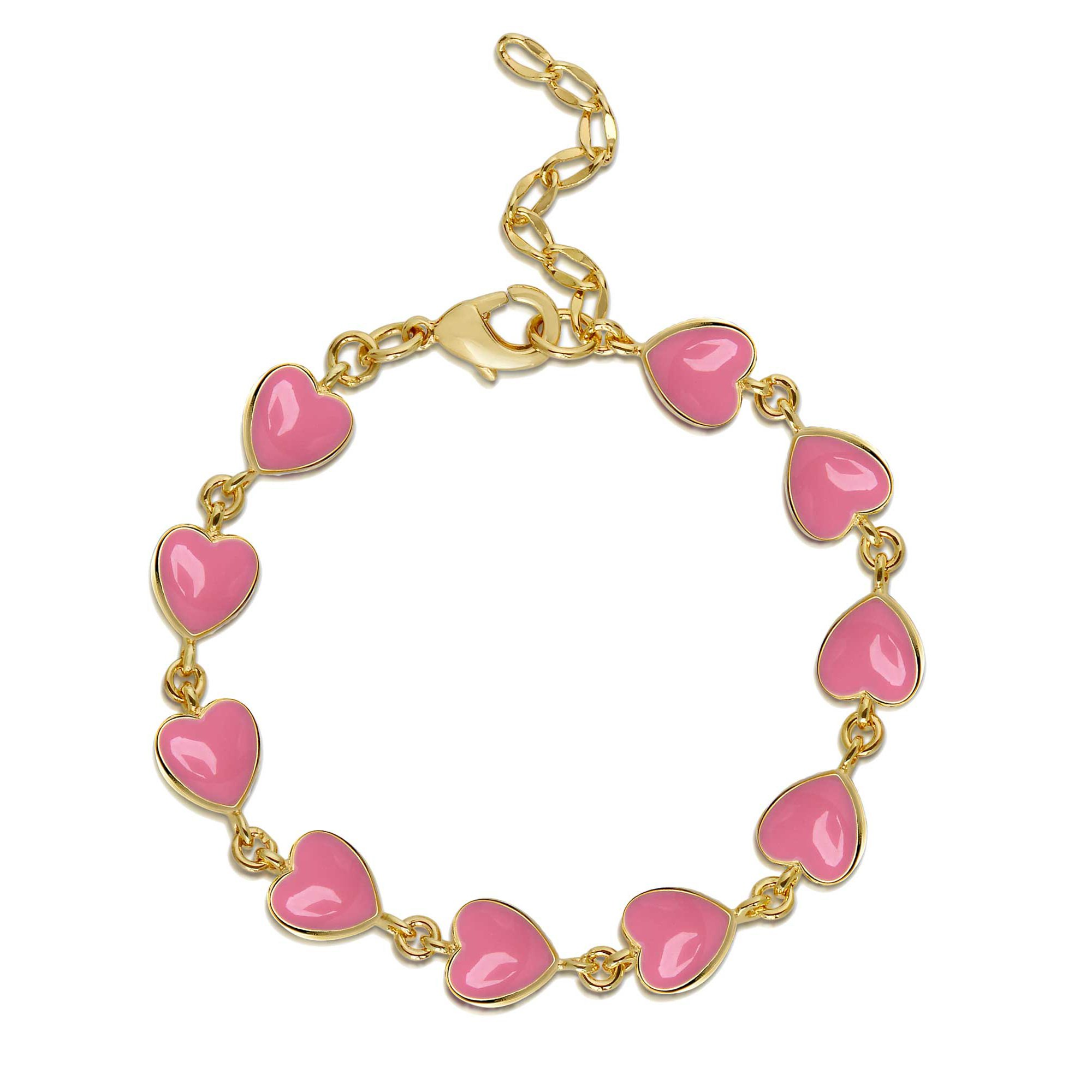 estella heart res crystal bracelet bartlett rose gold pink uncarded high