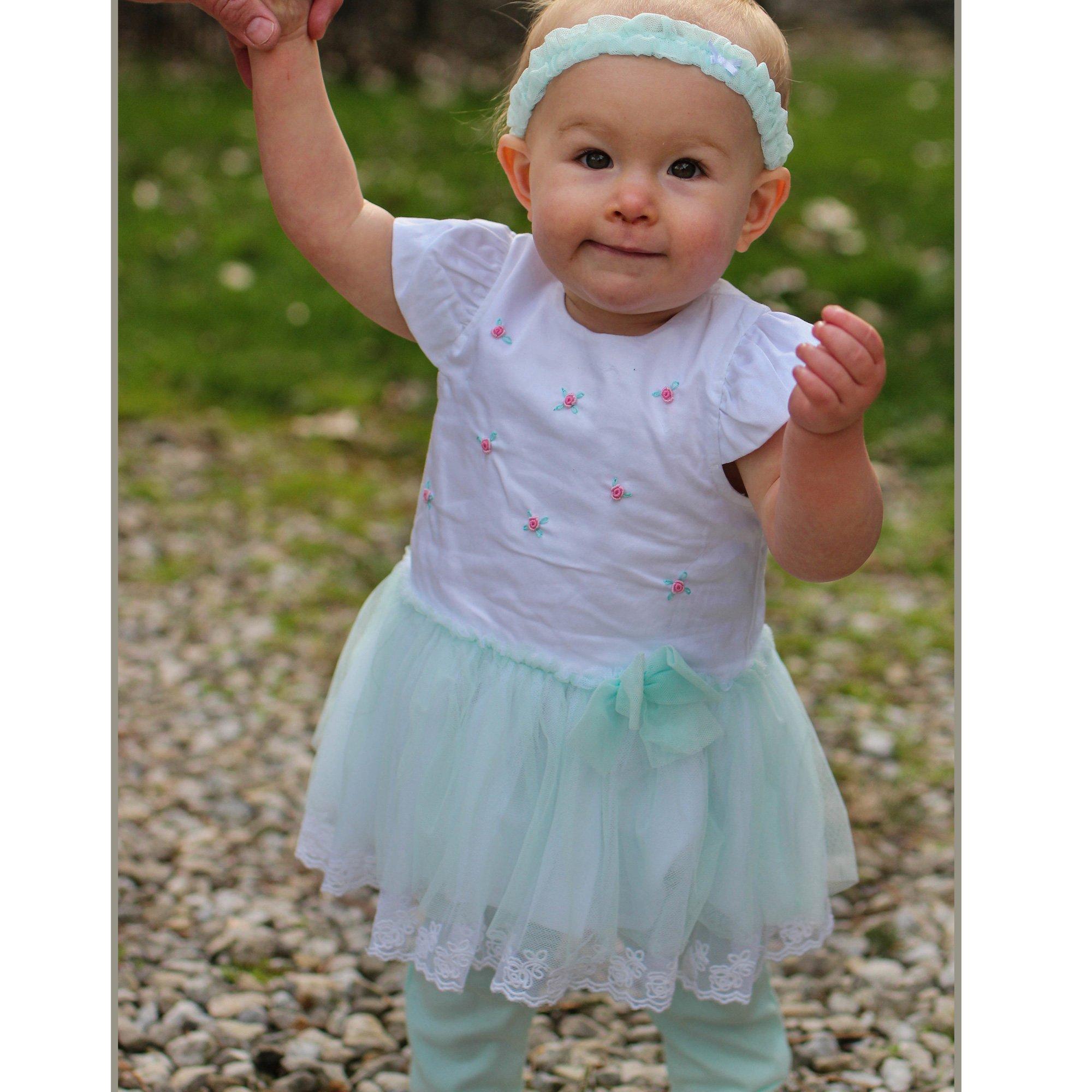 a60e2f05e51d1 Little Me Fancy Floral Tunic, Legging and Headband Set