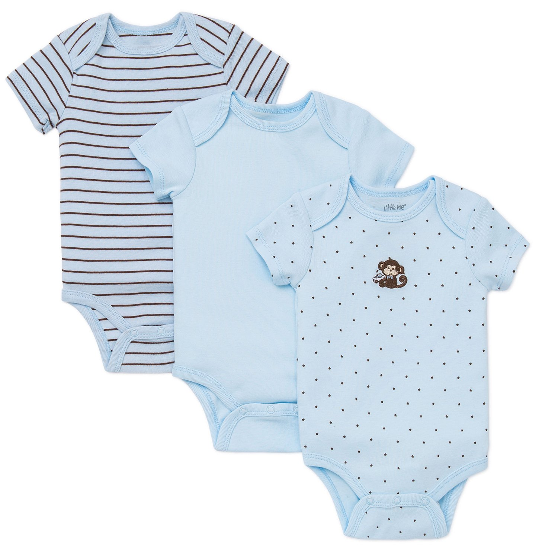 51cd0e9f5700 Little Me Monkey Star 3-pack Onesies for Baby Boys
