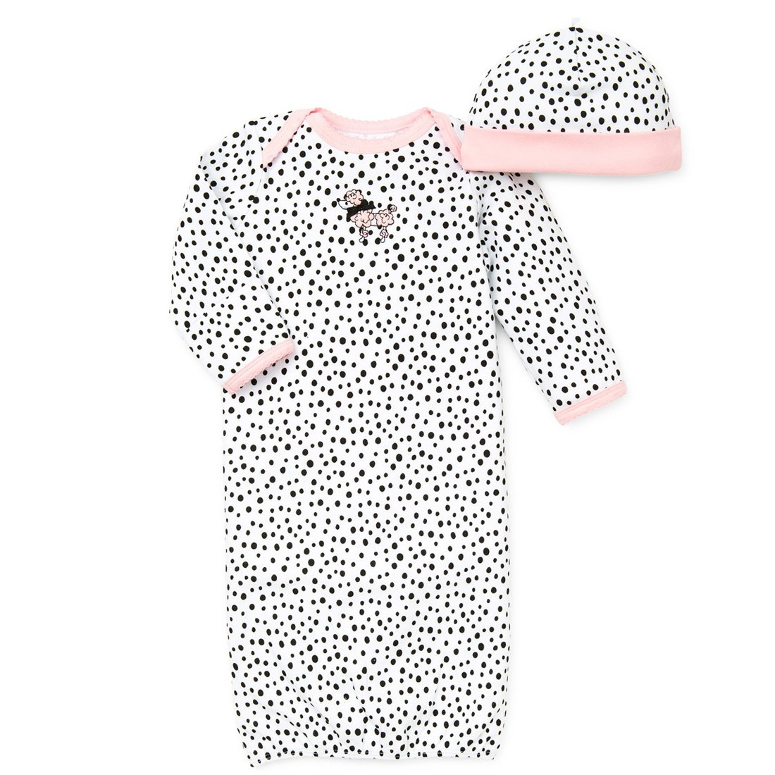 Little Me Perfect Poodle Newborn Gown and Hat Set