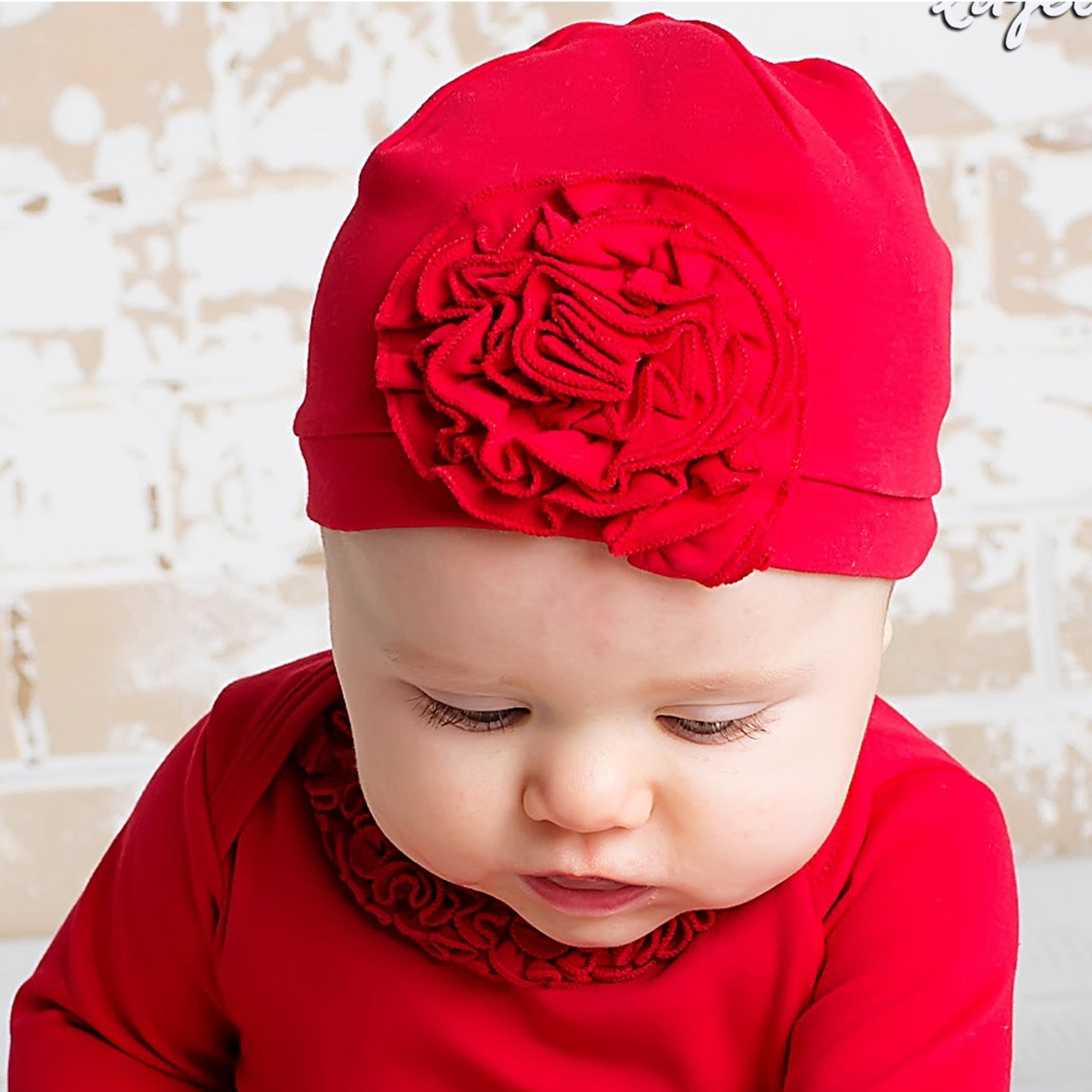 Holiday Baby Hats-Lemon Loves Layette-Bijou-Red ef694a3cc5a