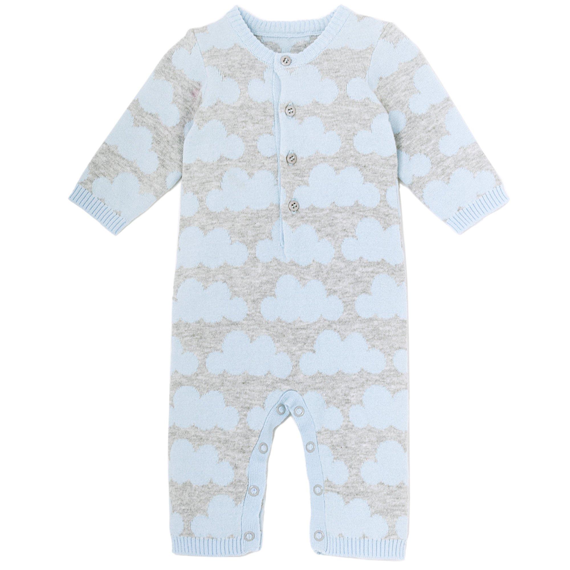 79df14609 Le Top Bébé Cloud Nine Knit Romper for Newborn and Baby Boys