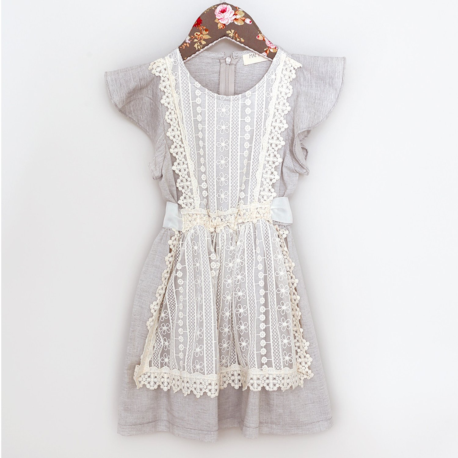 Mae Li Rose Crochet Pinafore Dress For Toddlers