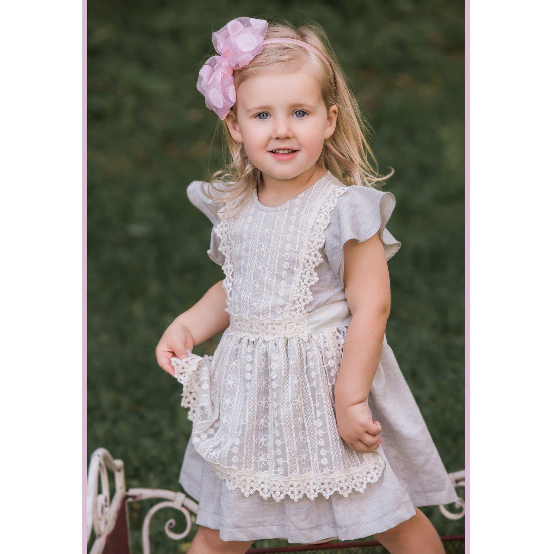 f3ae3aadcd9f Mae Li Rose Crochet Pinafore Dress for Toddlers