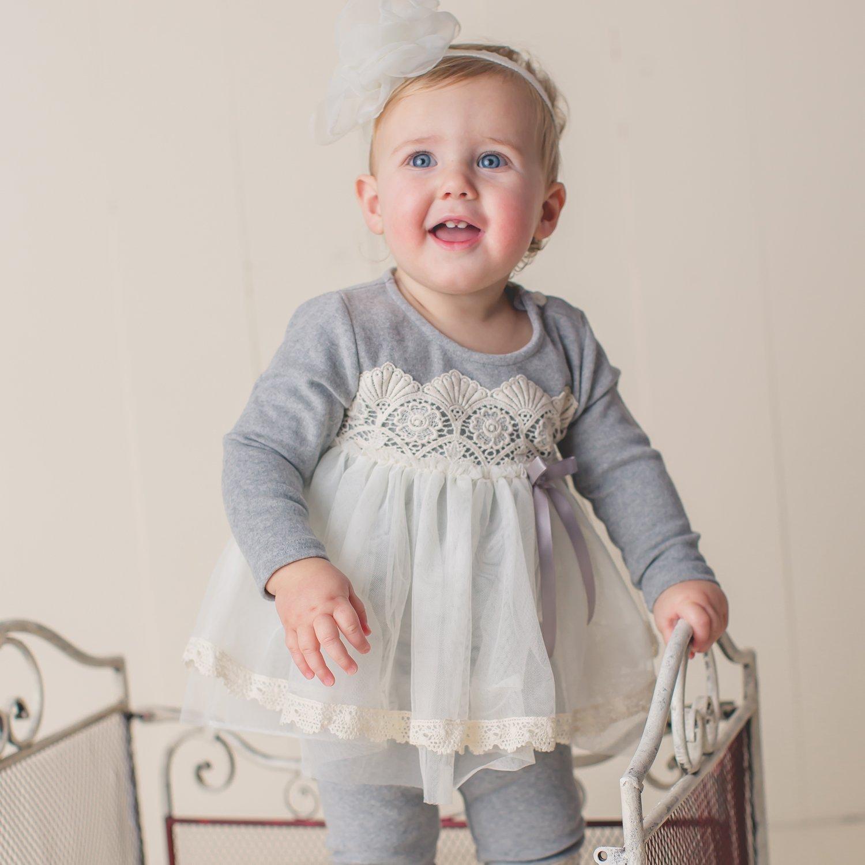 Mae Li Rose Crocheted Tunic Top For Baby Girls