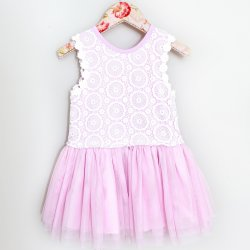 e4048074a4216b Mae Li Rose Lavender Lace and Tulle Dress for Toddlers