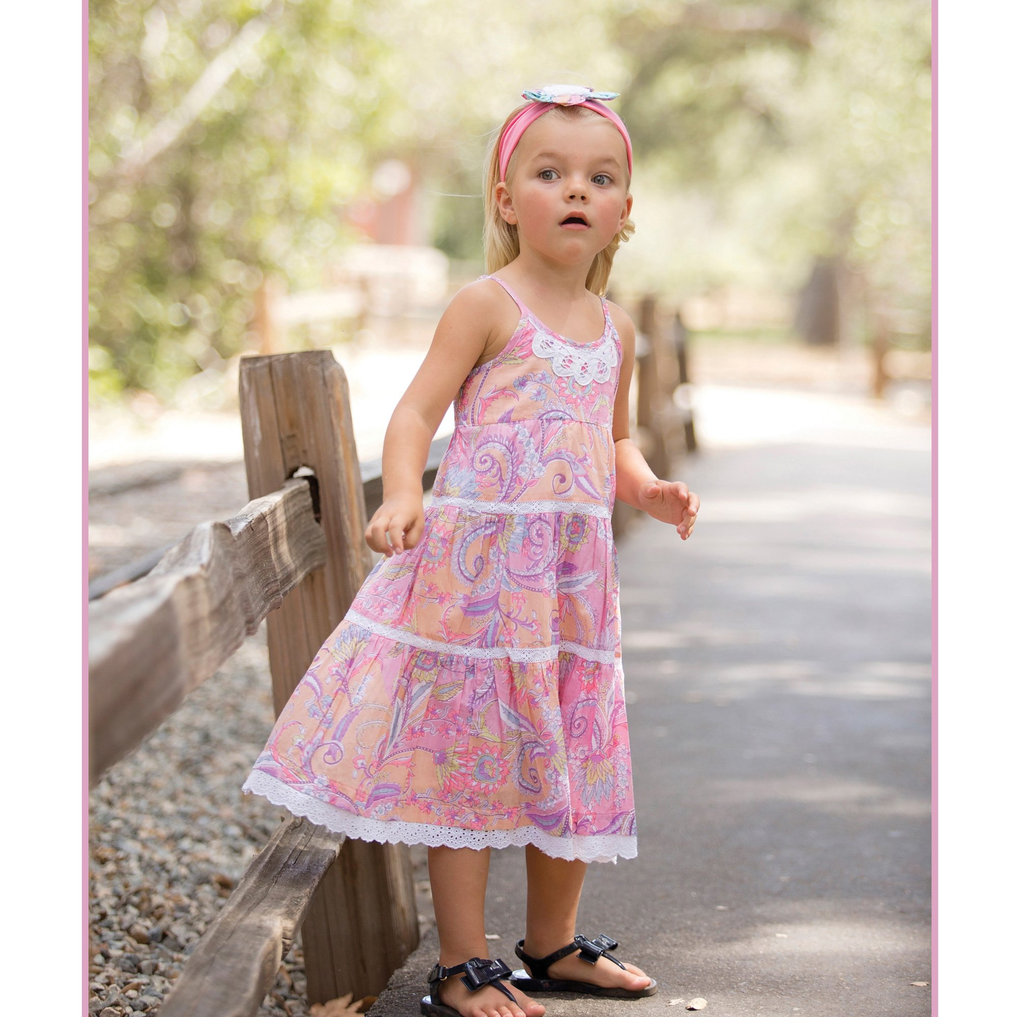 Mimi & Maggie Boho Collection Birthday Cake Dress for Toddlers