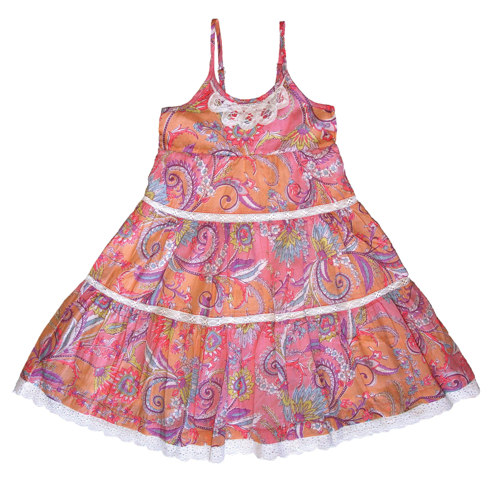 Birthday Dress Collection: Mimi & Maggie Boho Collection Birthday Cake Dress For Toddlers
